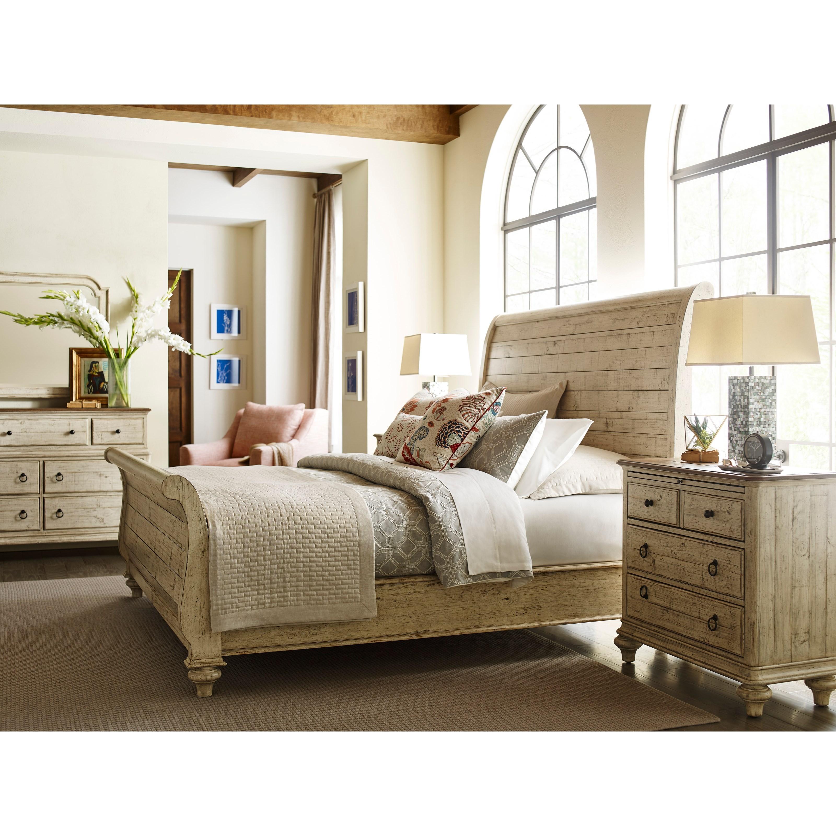 Kincaid Furniture Weatherford Lynton Sleigh Bed King Size Jacksonville Furniture Mart Sleigh