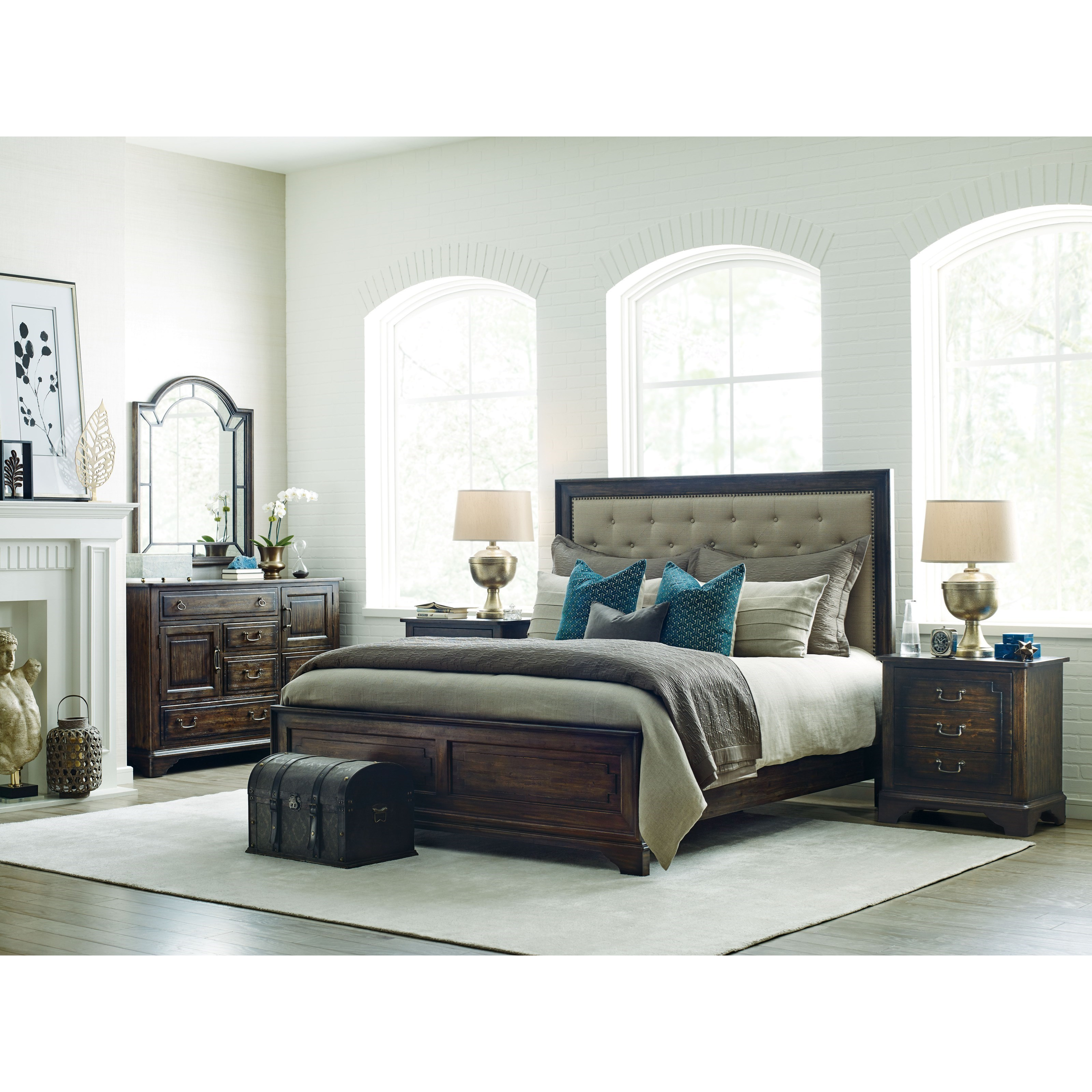 Kincaid furniture wildfire queen bedroom group olinde 39 s for Bedroom furniture groups