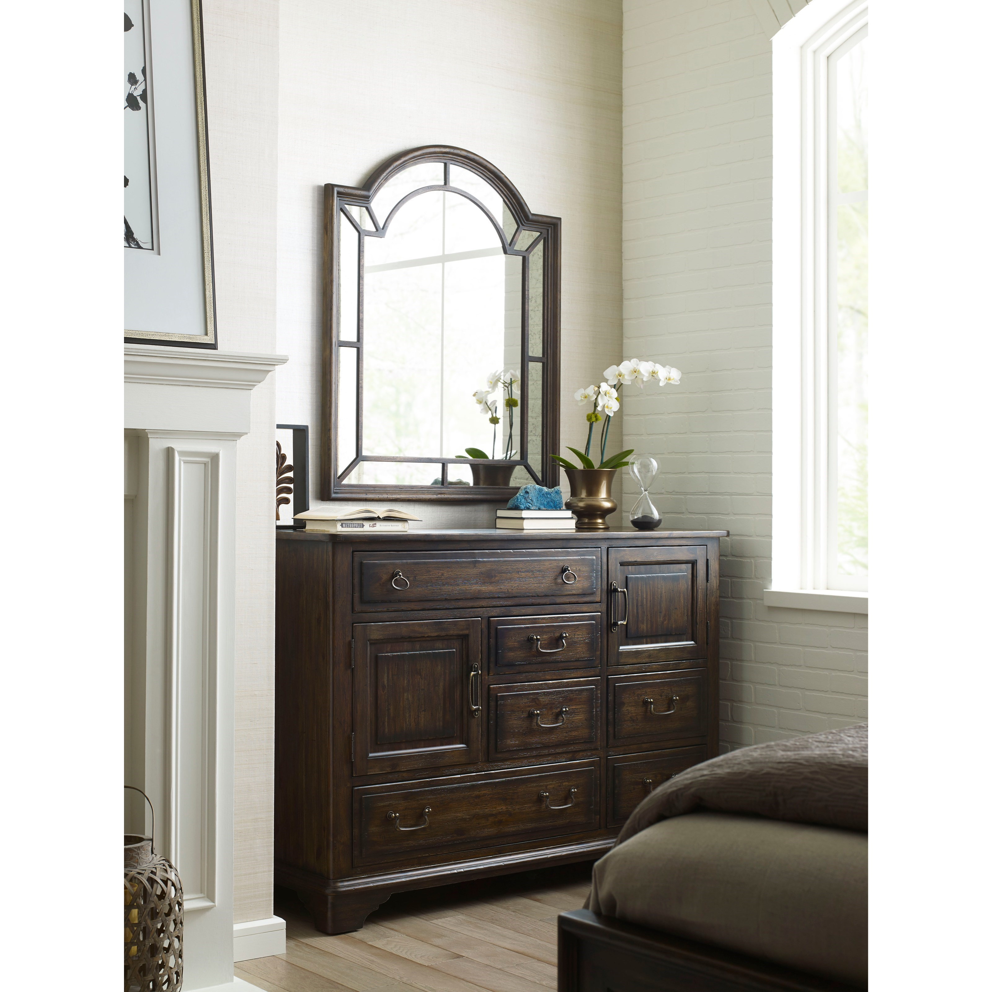 Kincaid Furniture Wildfire Palladian Arched Mirror With
