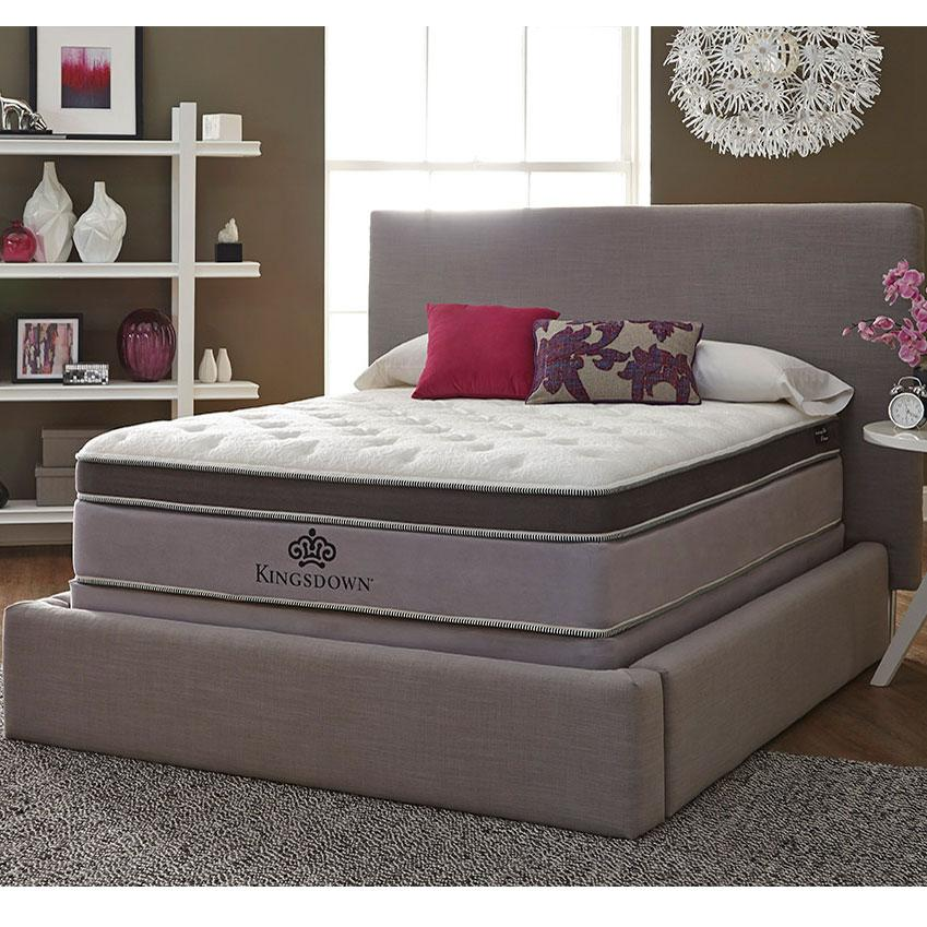 Kingsdown Anniversary Platinum Queen Pillow Top Mattress Becker Furniture World Mattress