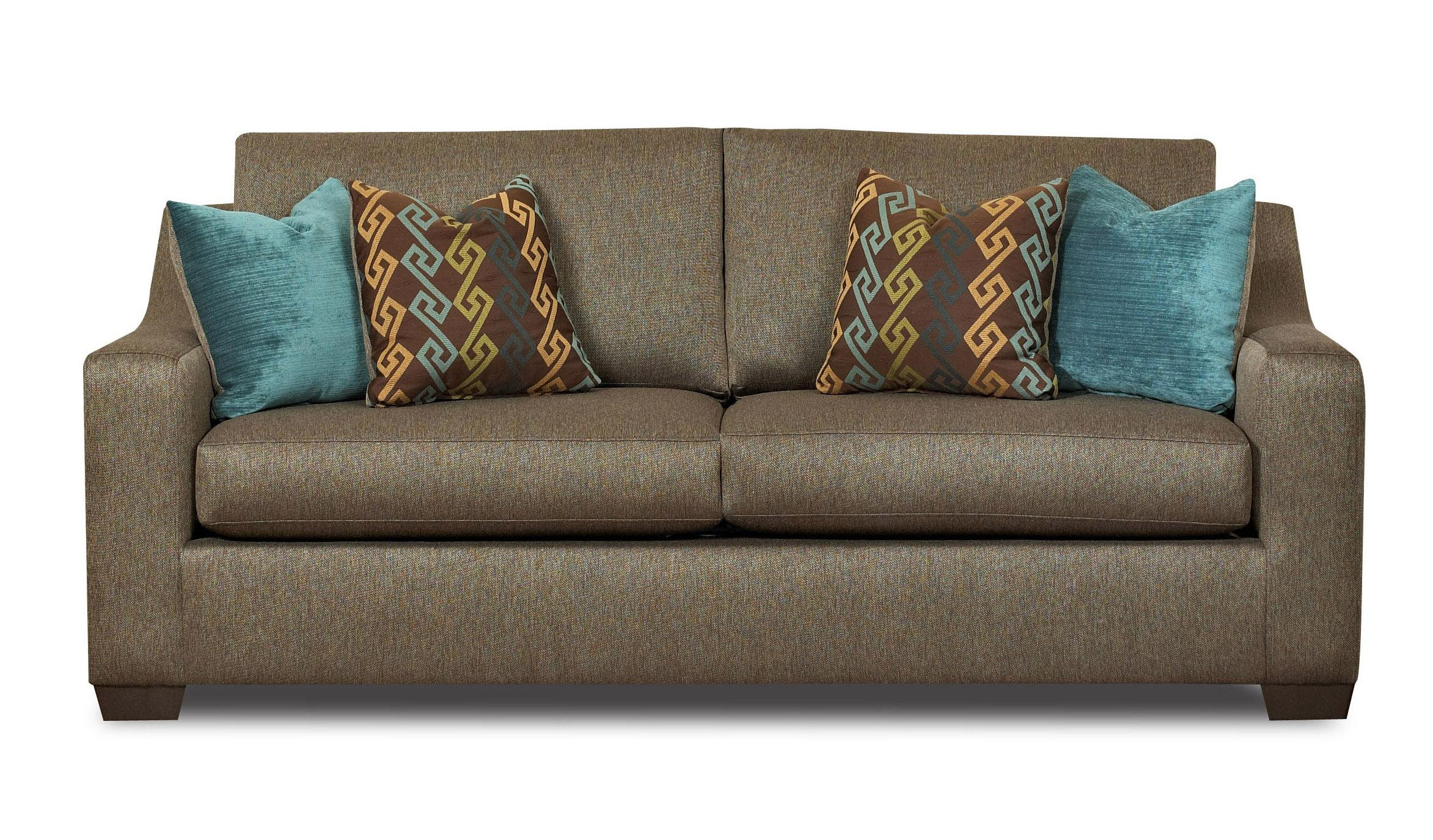 Klaussner argos e20300 s contemporary sofa with sloped for Chair cushion covers argos