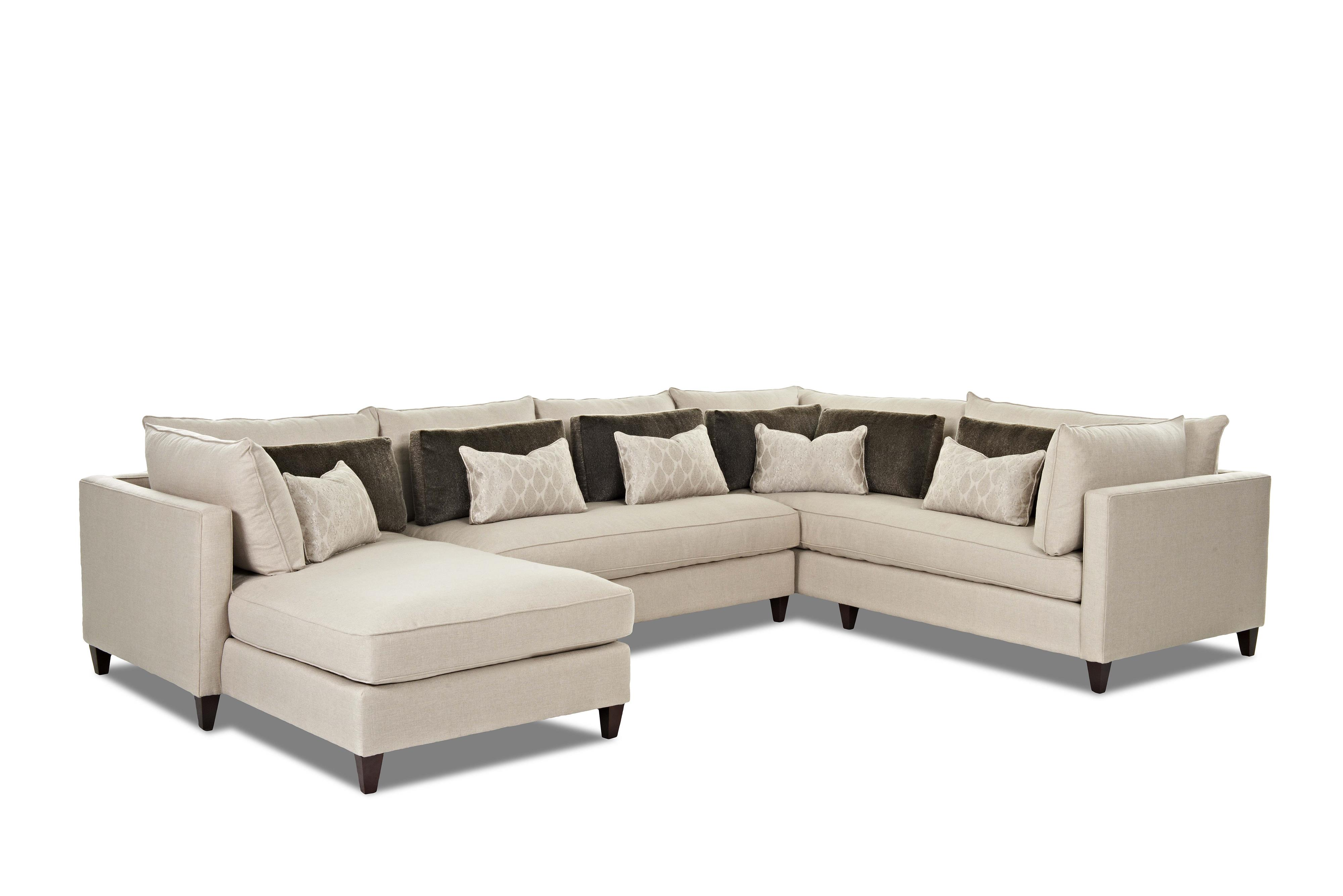 Elliston place arianna modern sofa sectional with left for Chaise 2 places