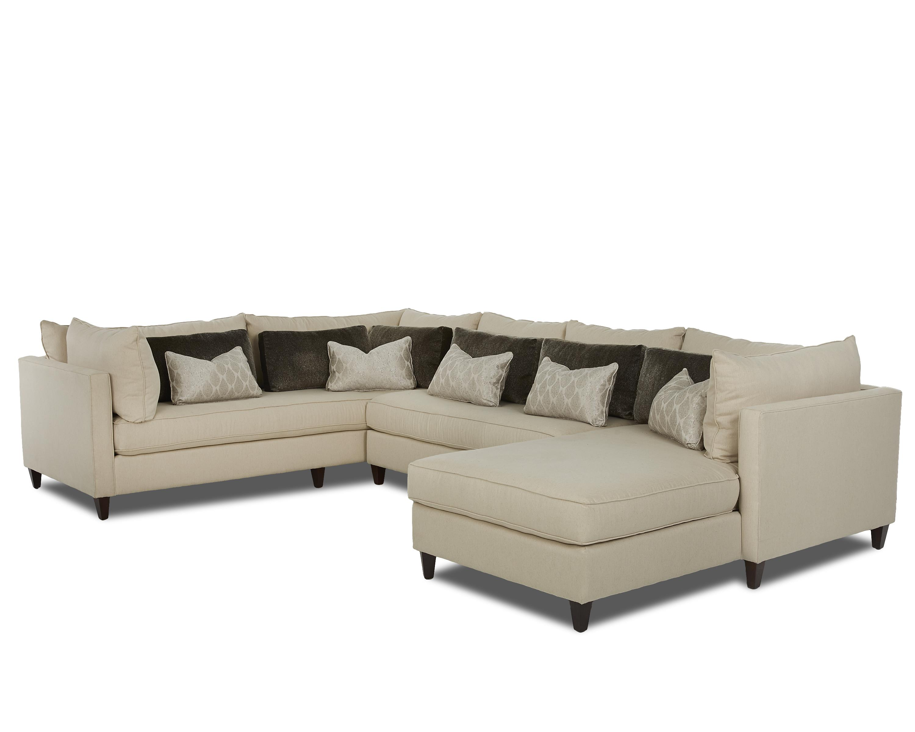 Elliston place arianna modern sofa sectional with right for Chaise 2 places