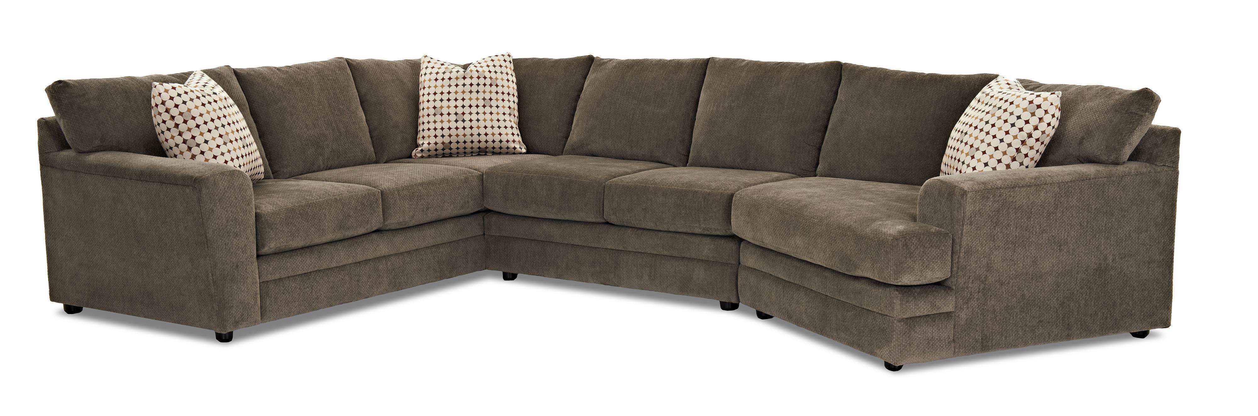 klaussner ashburn casual sectional sofa group olinde 39 s furniture sectional sofas. Black Bedroom Furniture Sets. Home Design Ideas