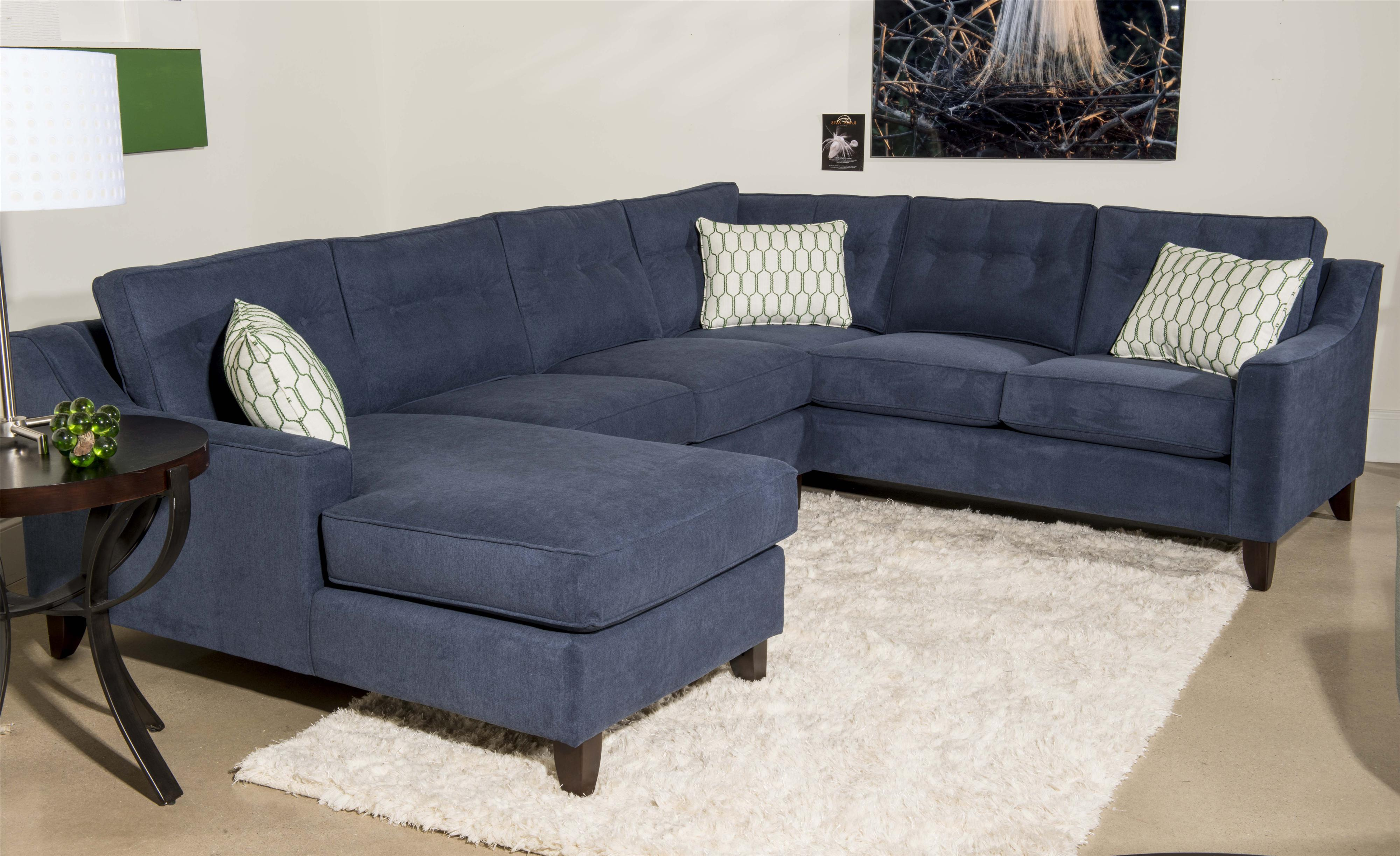 Klaussner audrina contemporary 3 piece sectional sofa with for 3 piece sectional sofas with chaise