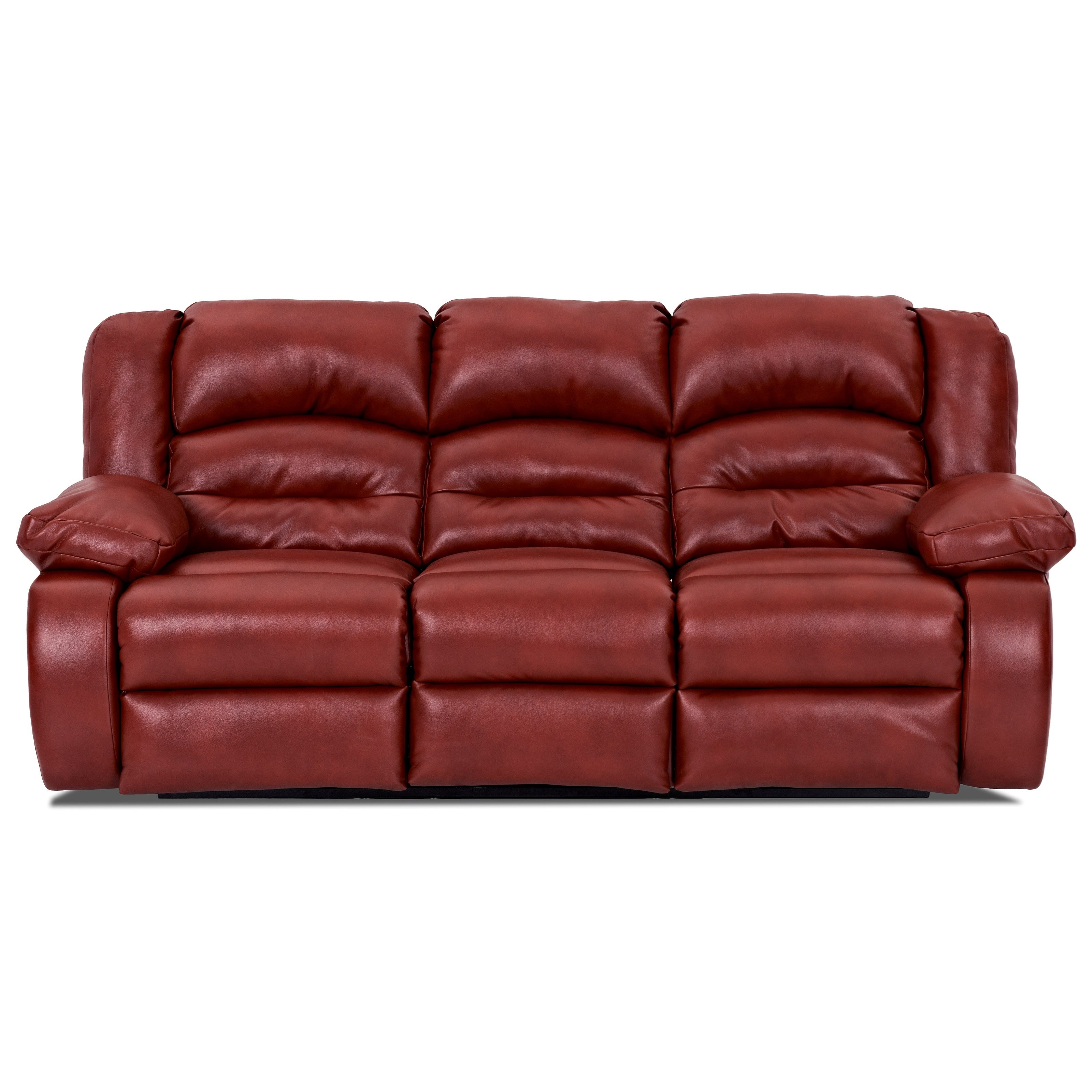 Klaussner austin casual power reclining sofa wayside for Casual couch