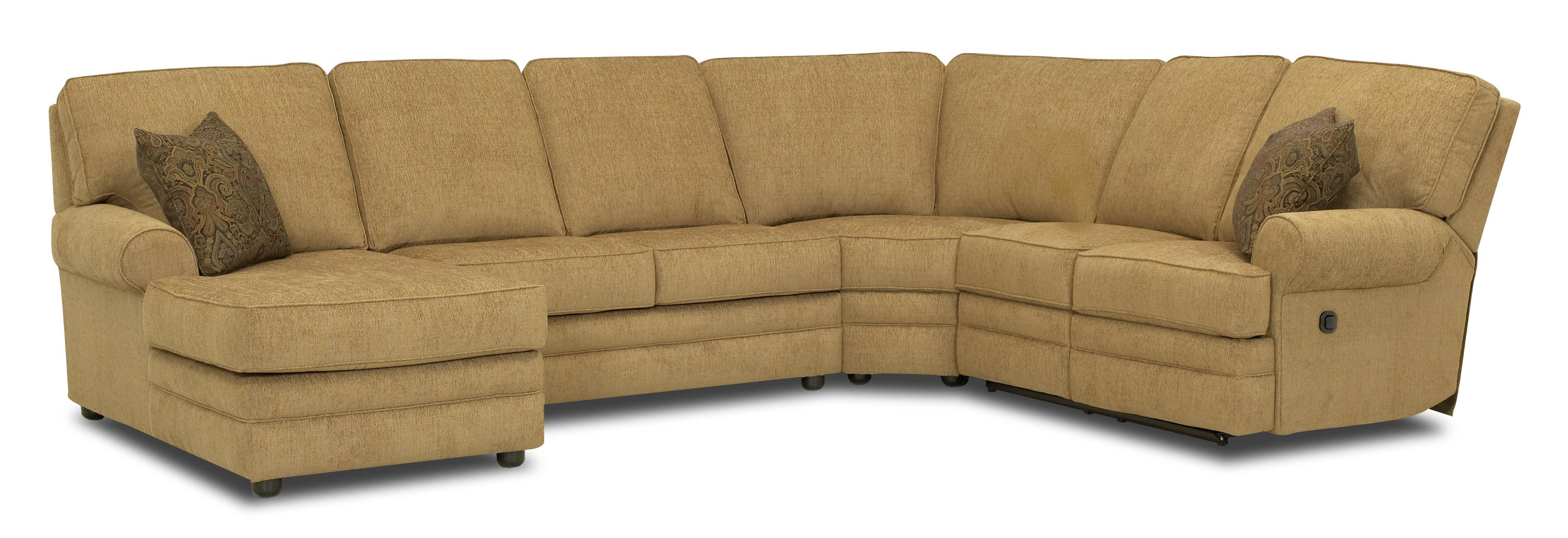 Elliston place belleview reclining sectional with left for Chaise 2 places