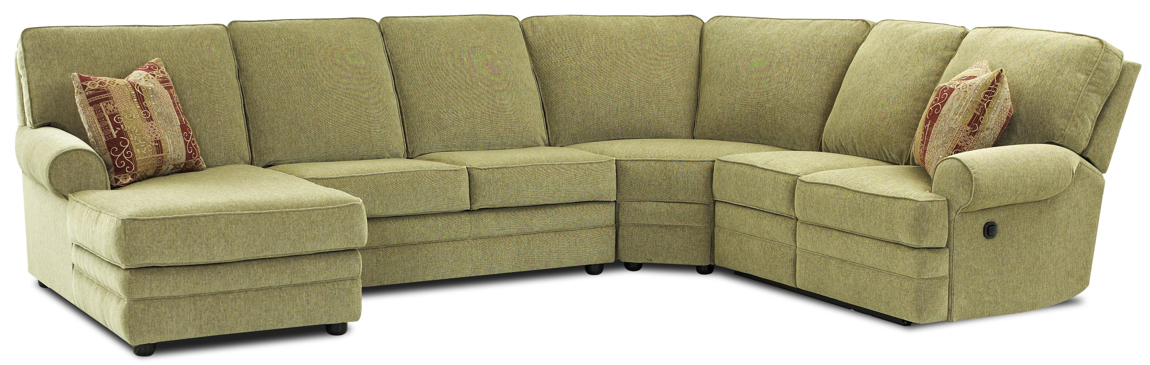 Elliston place belleview reclining sectional with left for Chaise 3 places