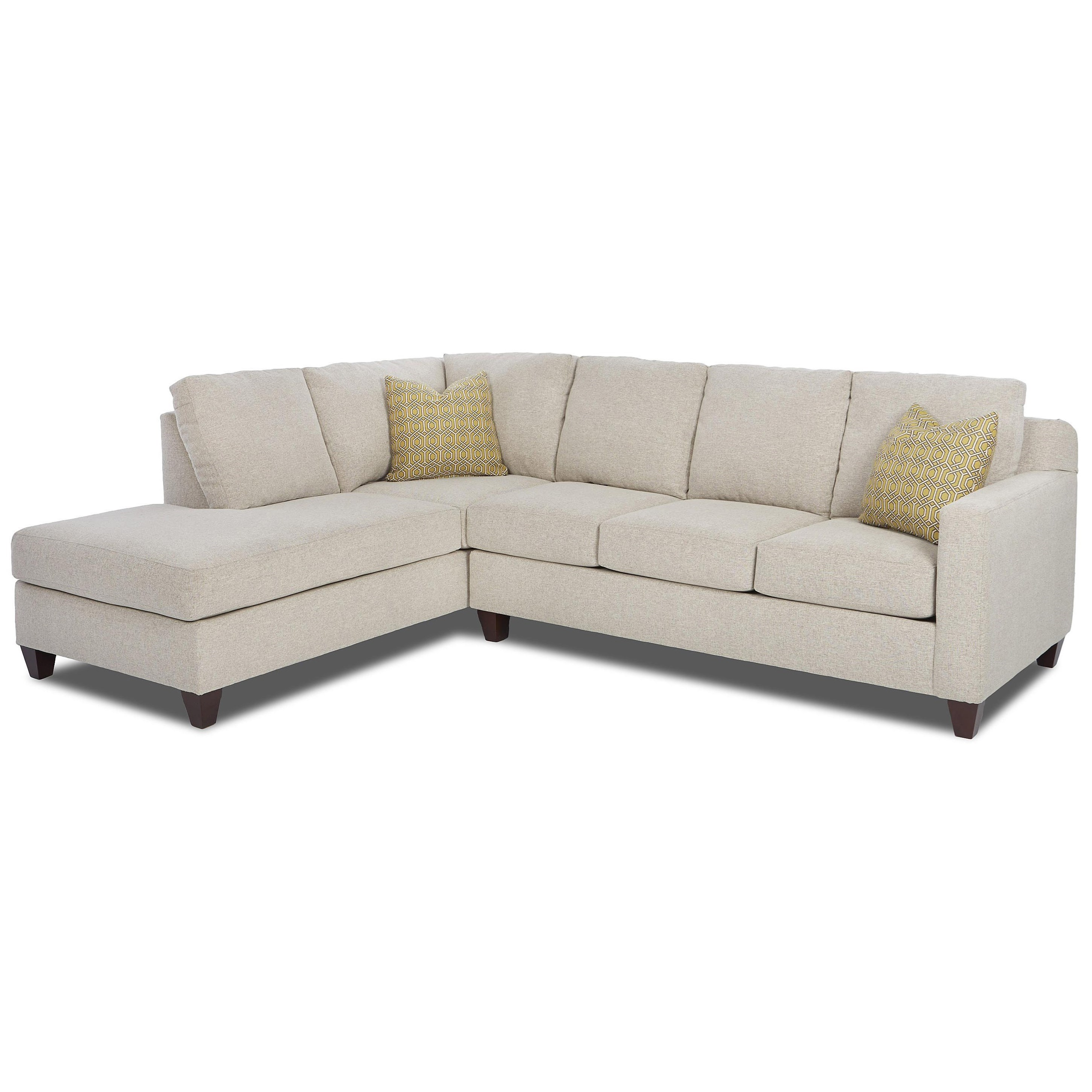 Klaussner bosco contemporary 2 piece sectional with left for One arm sofa chaise