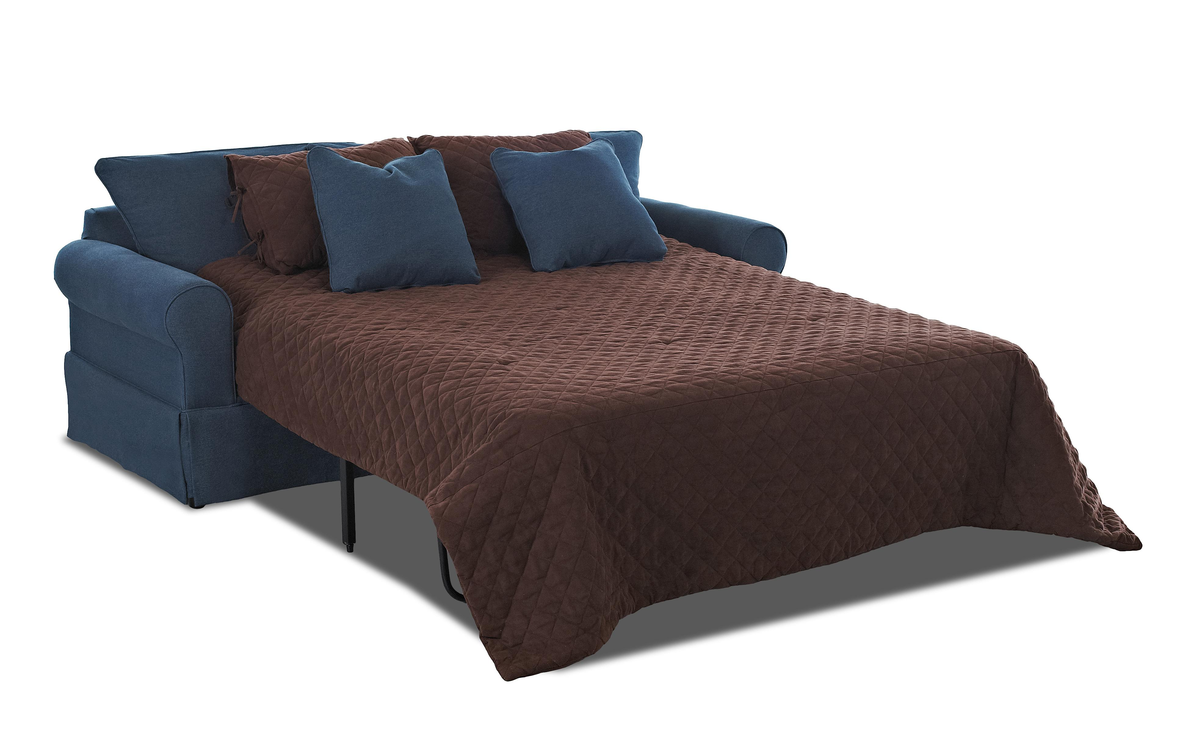 Klaussner Brook Skirted Dreamquest Queen Sleeper Sofa