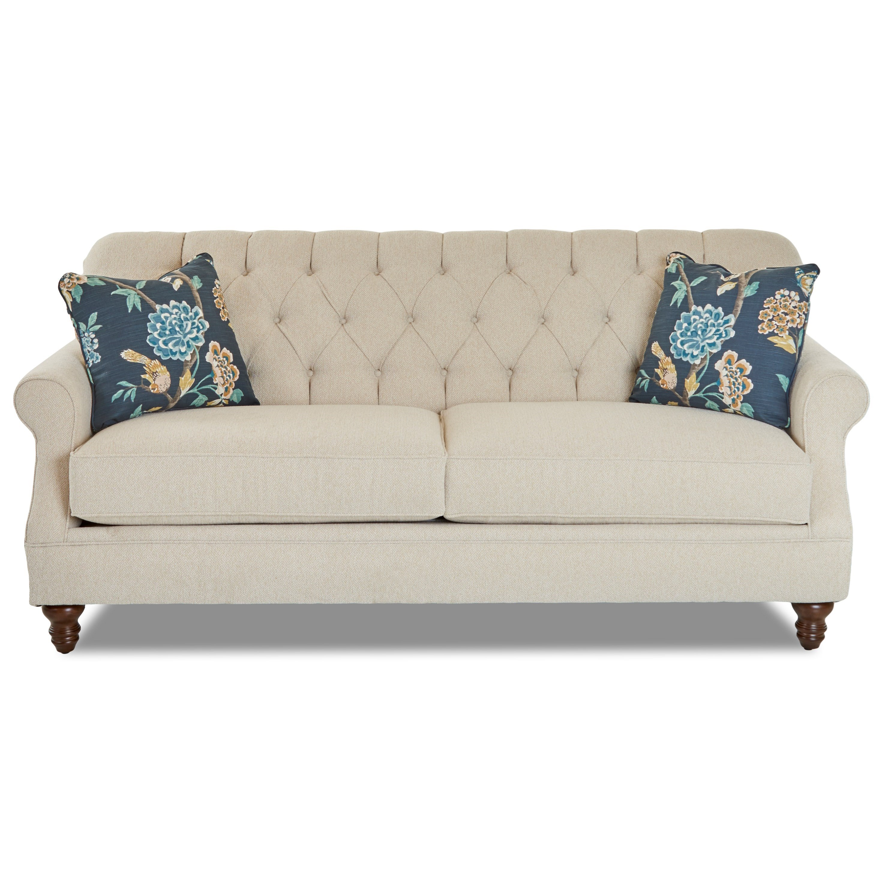 klaussner burbank traditional tufted apartment size sofa jacksonville furniture mart sofas. Black Bedroom Furniture Sets. Home Design Ideas
