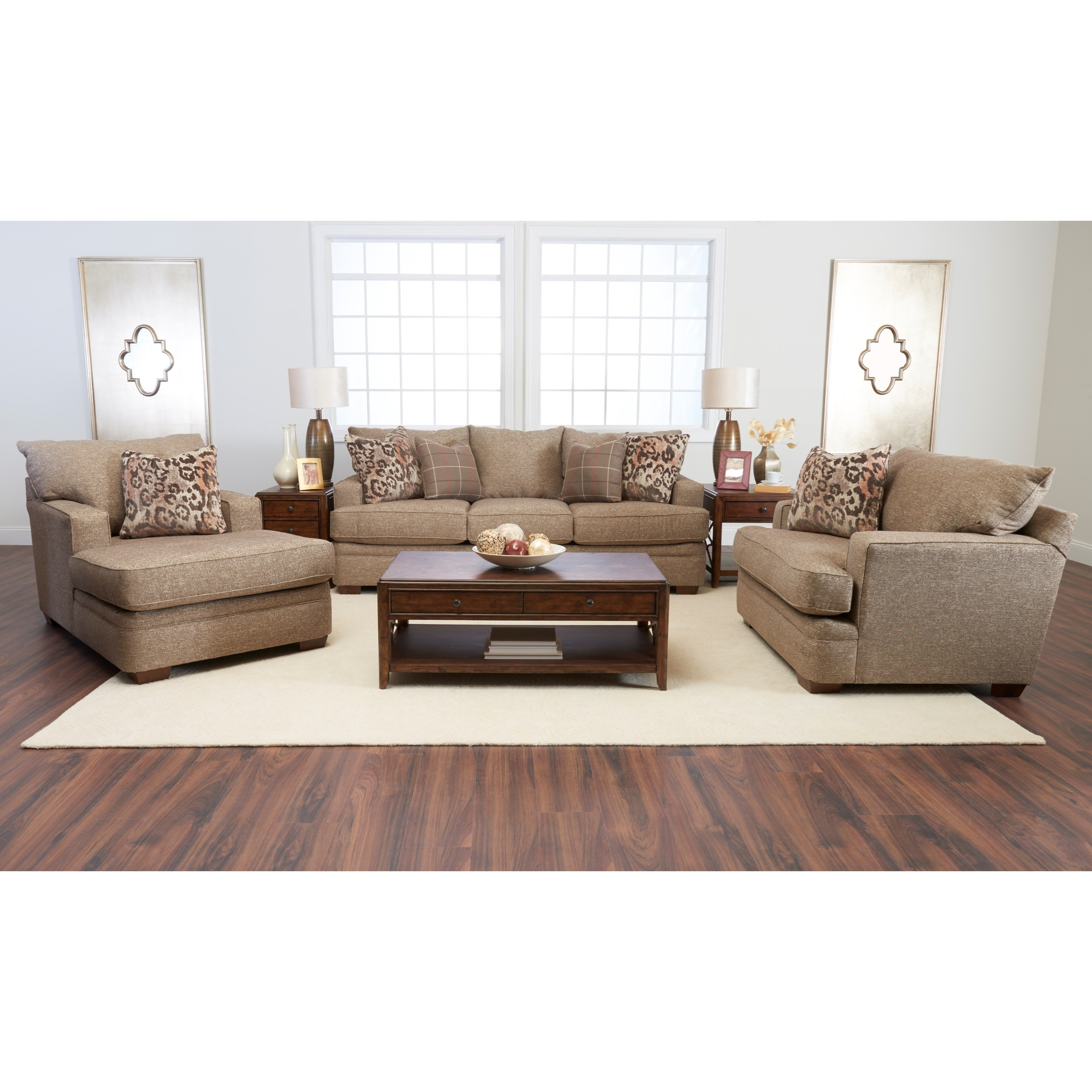 Klaussner chadwick living room group pilgrim furniture for Living room furniture groups