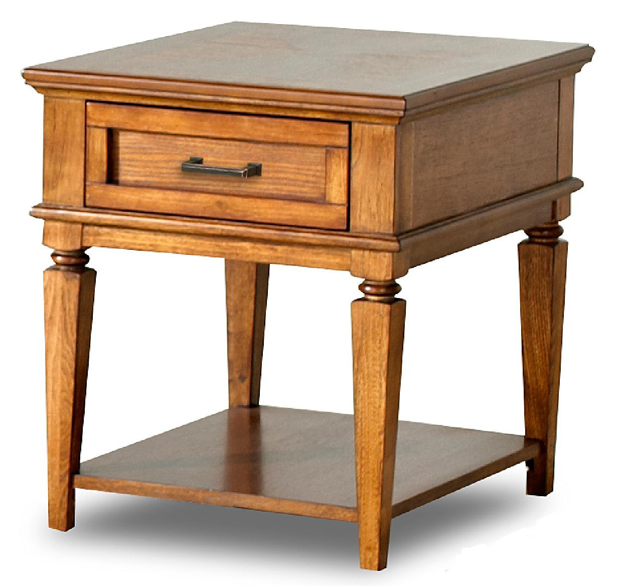 Concord transitional end table with drawer and shelf morris home end tables Morris home furniture hours