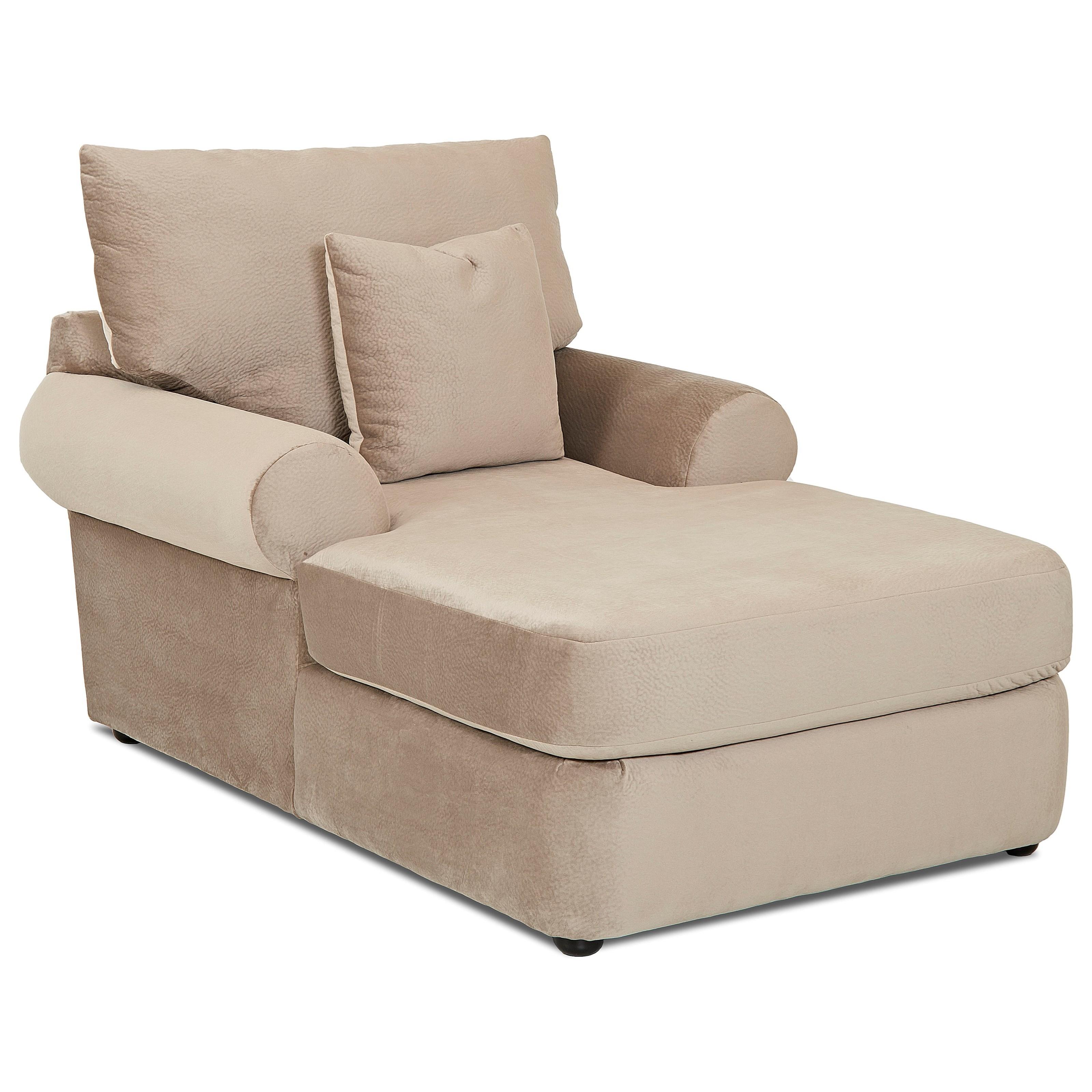 Elliston place cora casual plush chaise lounge morris for Chaise 2 places