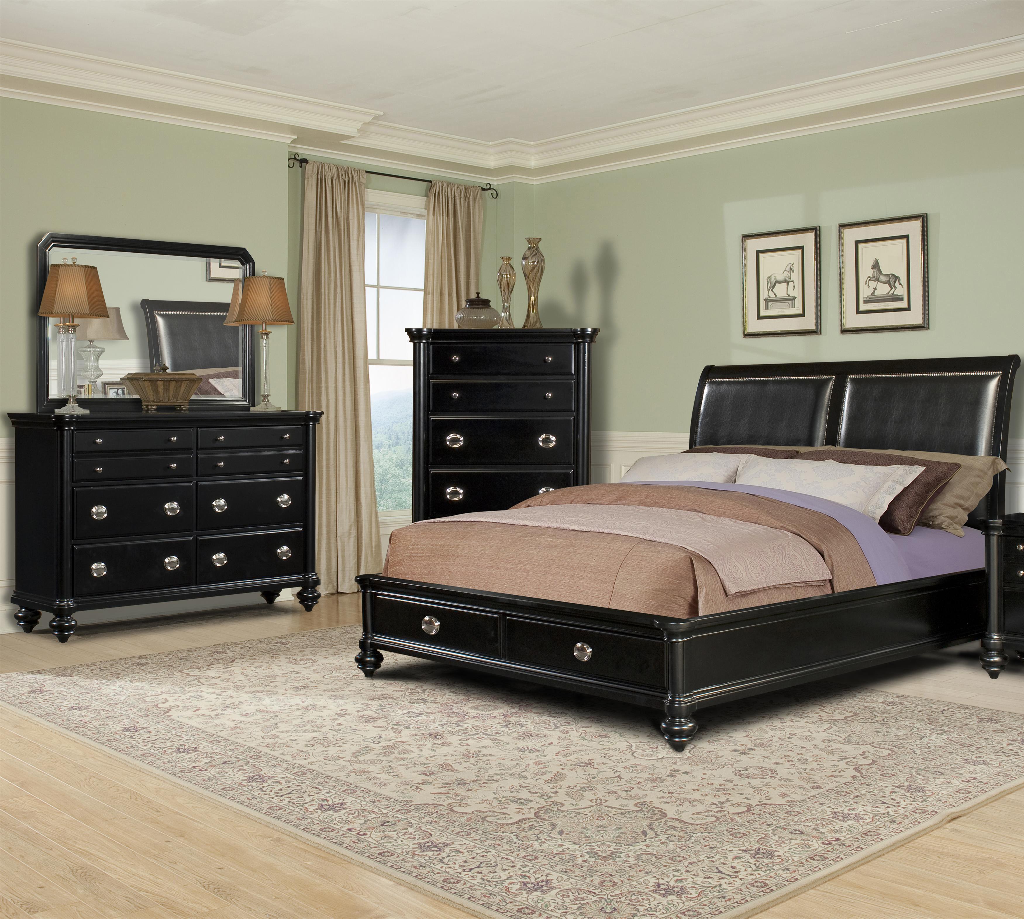 Klaussner International Danbury 5 Piece Queen Upholstered Bedroom Group Wayside Furniture