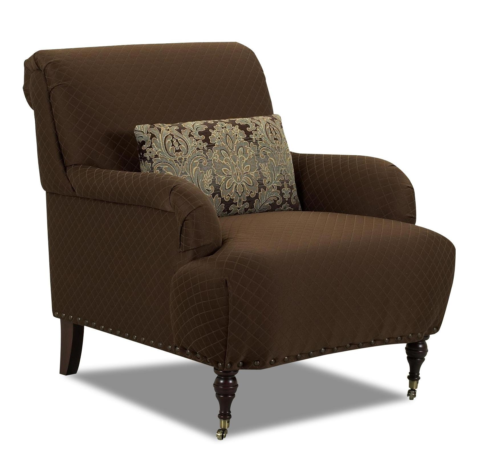 Klaussner Dapper Traditional Accent Chair With English