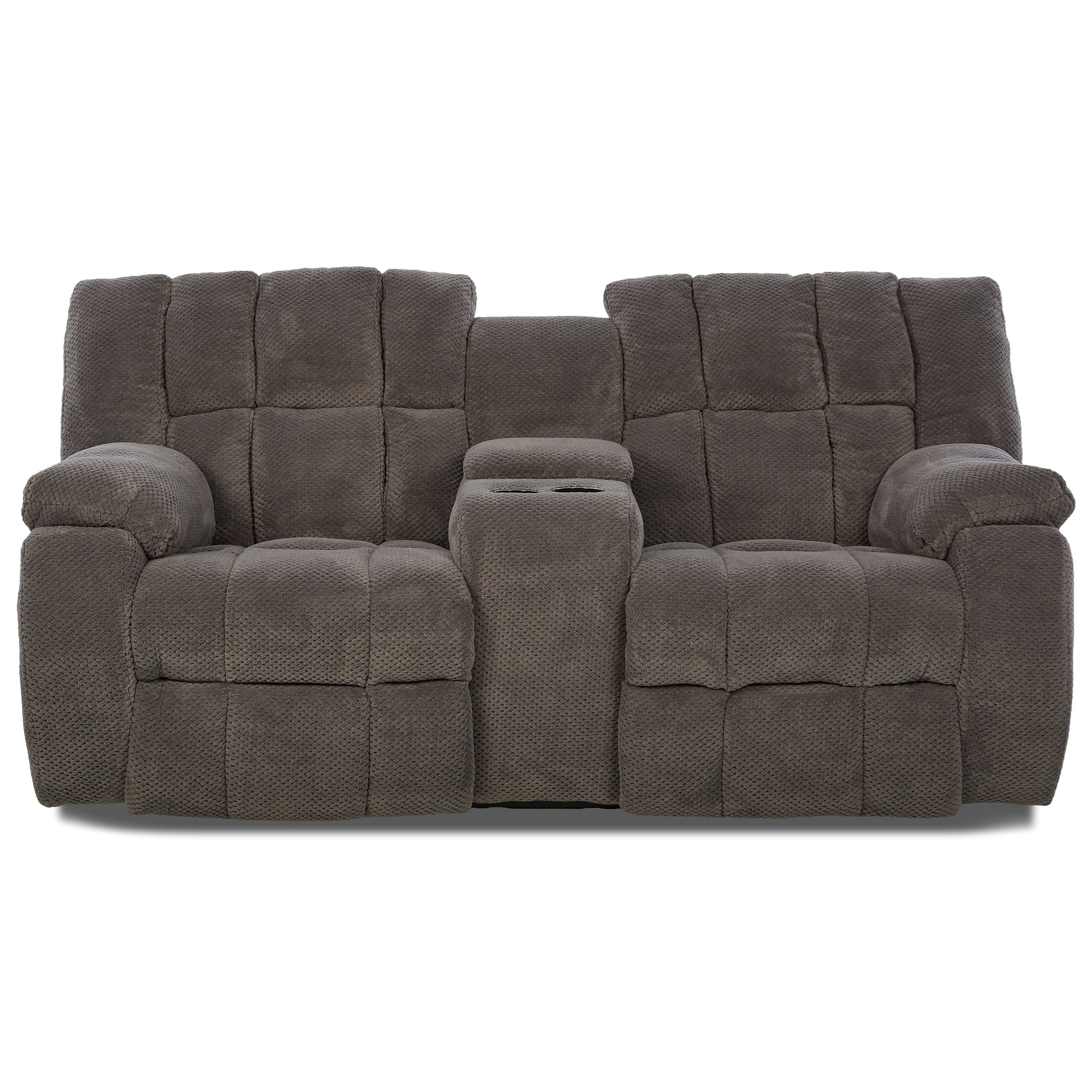 klaussner dozer dozer reclining loveseat with console wayside furniture reclining love seat. Black Bedroom Furniture Sets. Home Design Ideas