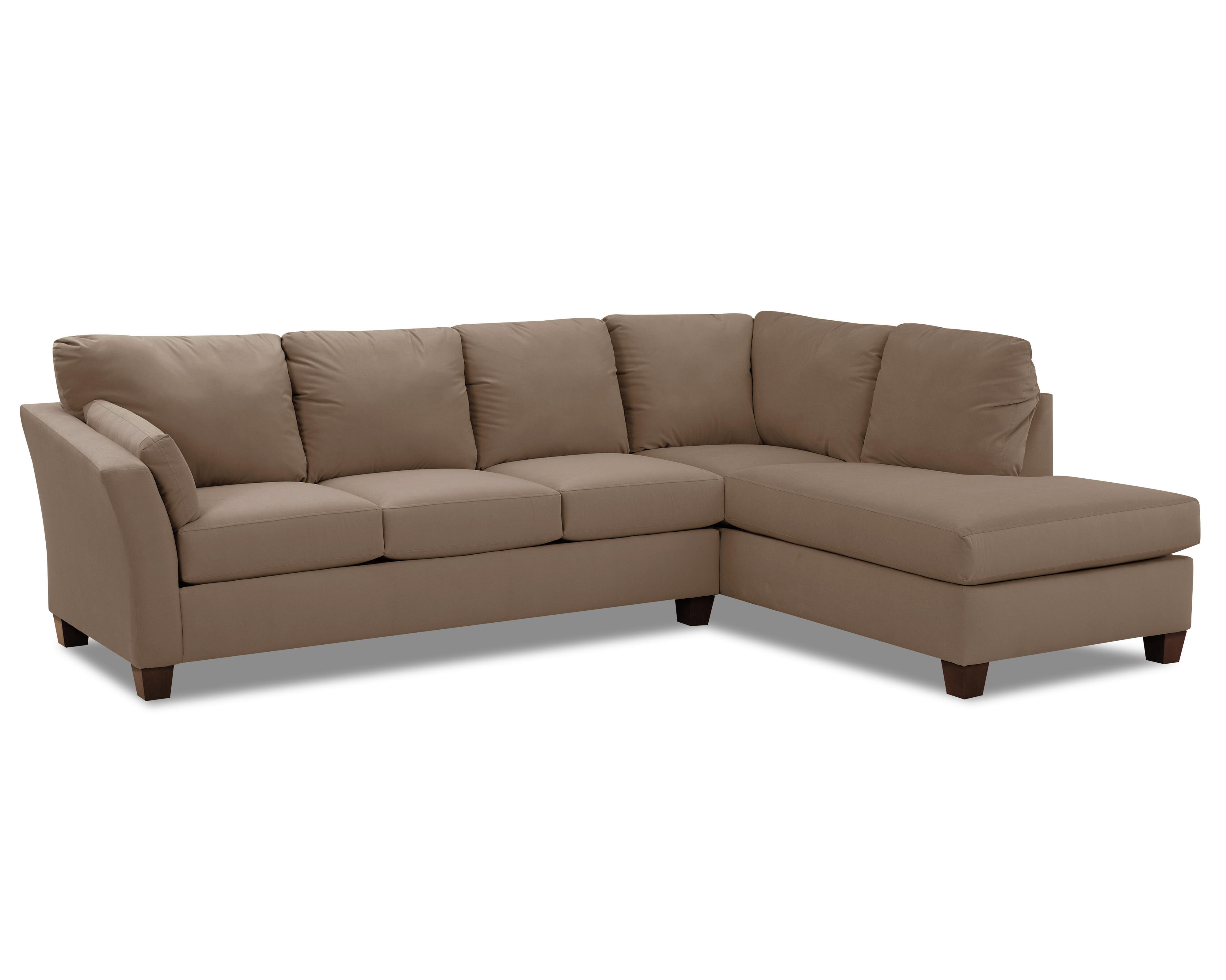 Klaussner drew two piece sectional sofa with chaise for 2 piece sectional sofa with recliner