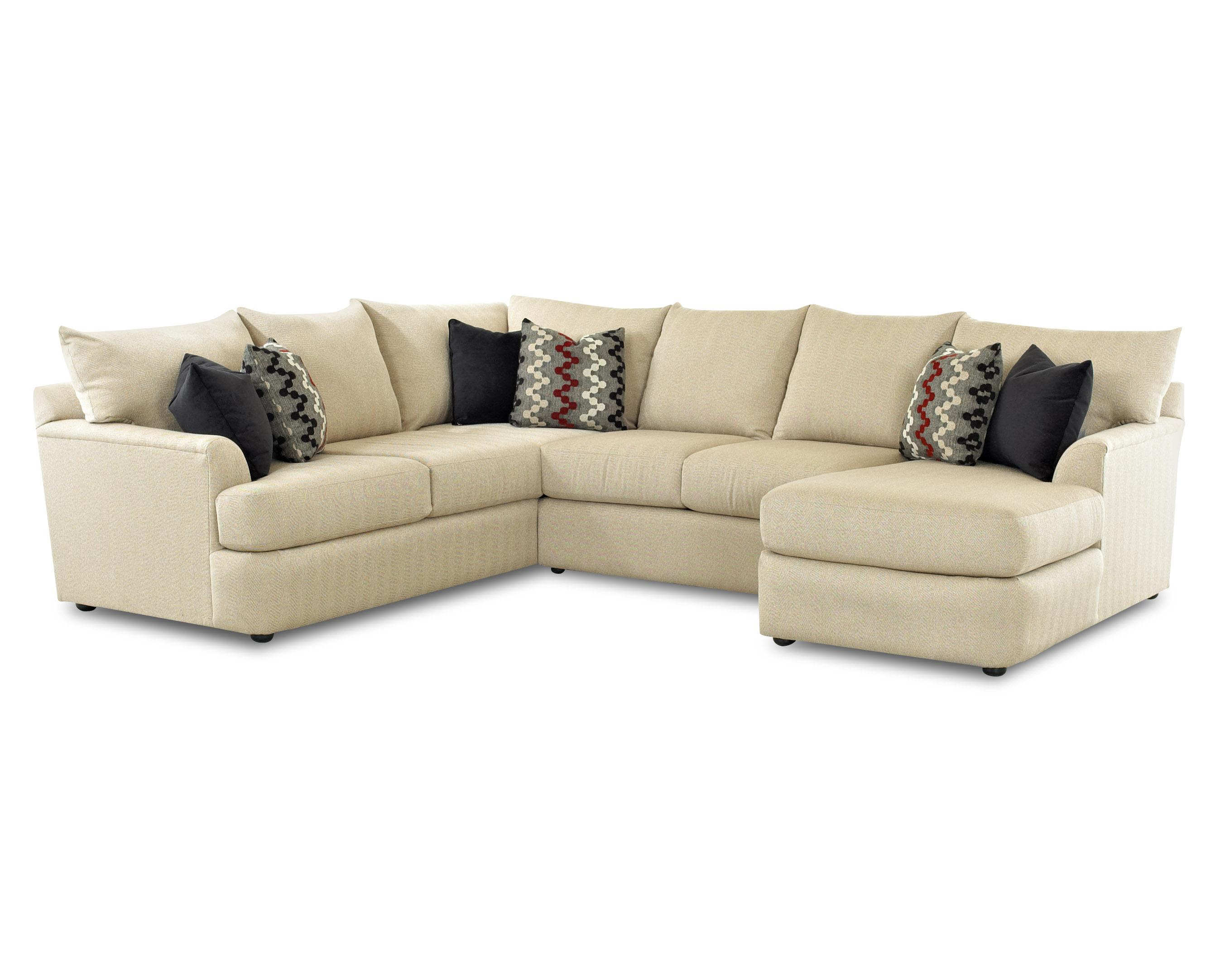 Findley sectional sofa with right arm chaise lounger by for Sectional sofas wolf furniture