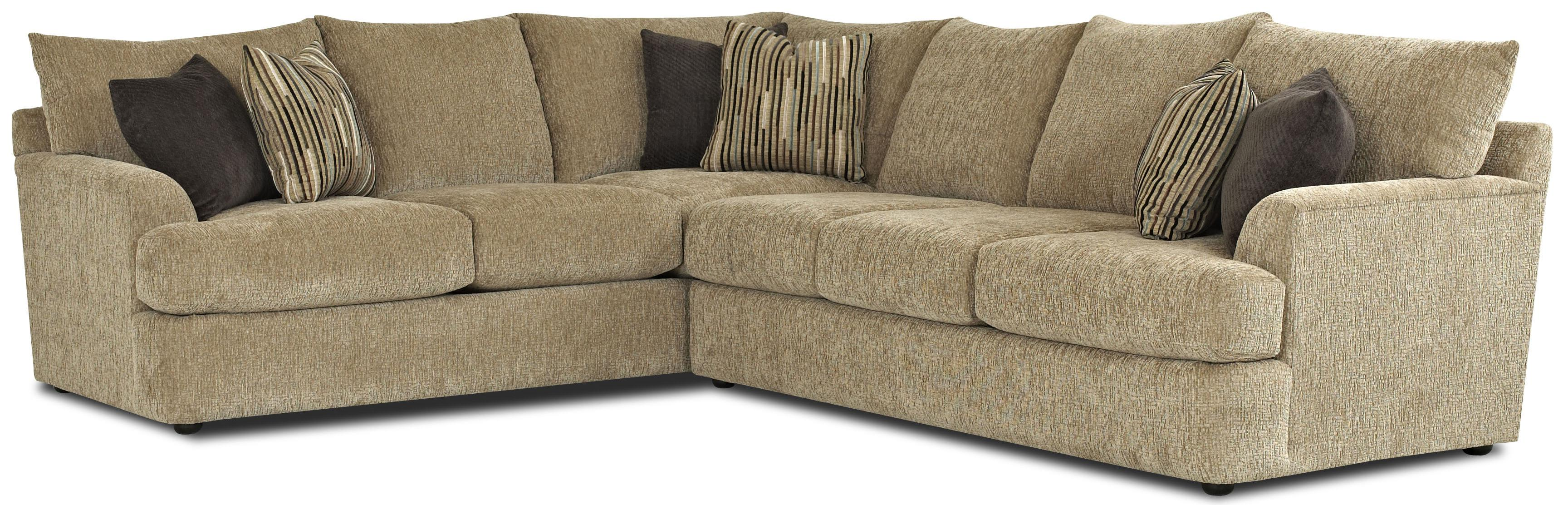 Findley Contemprary L Shaped Sectional Sofa by Klaussner