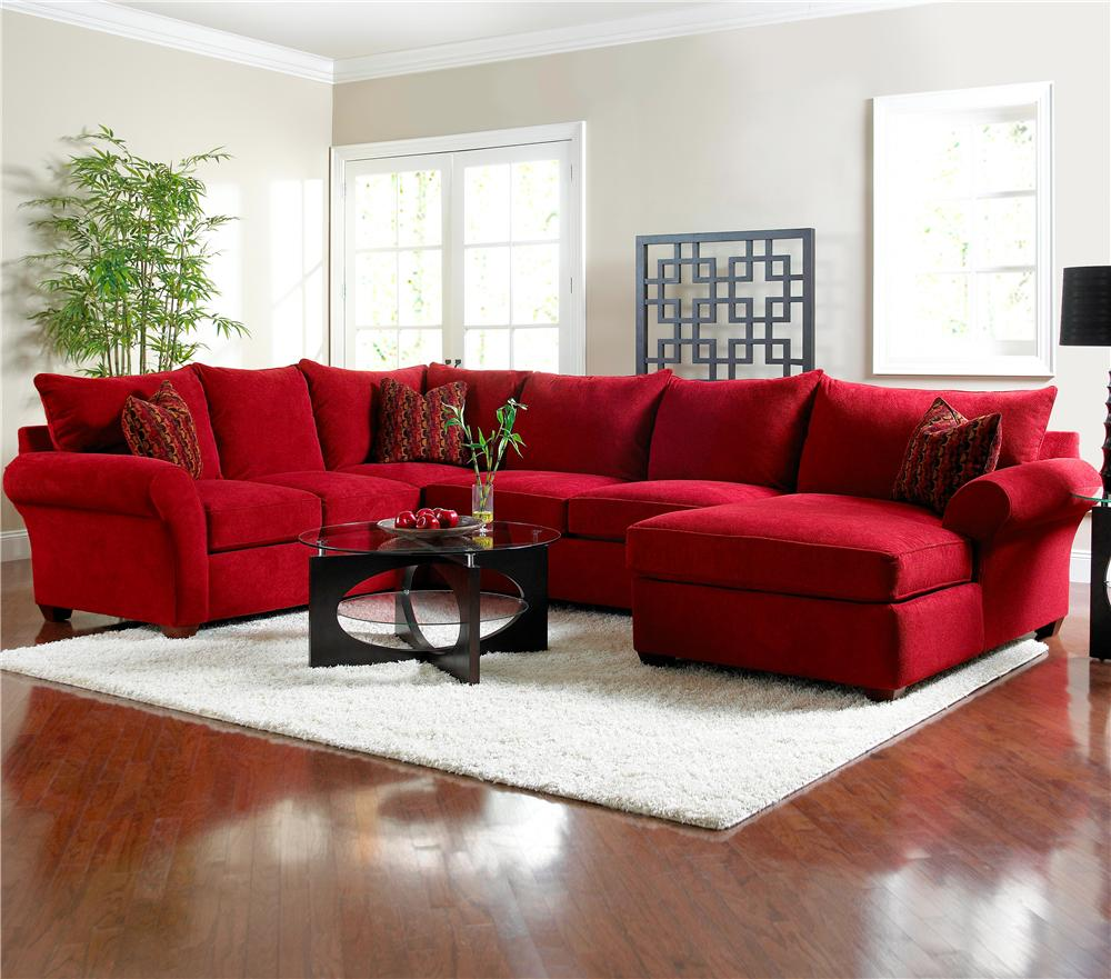 Sectional sofa for Rug color for red couch