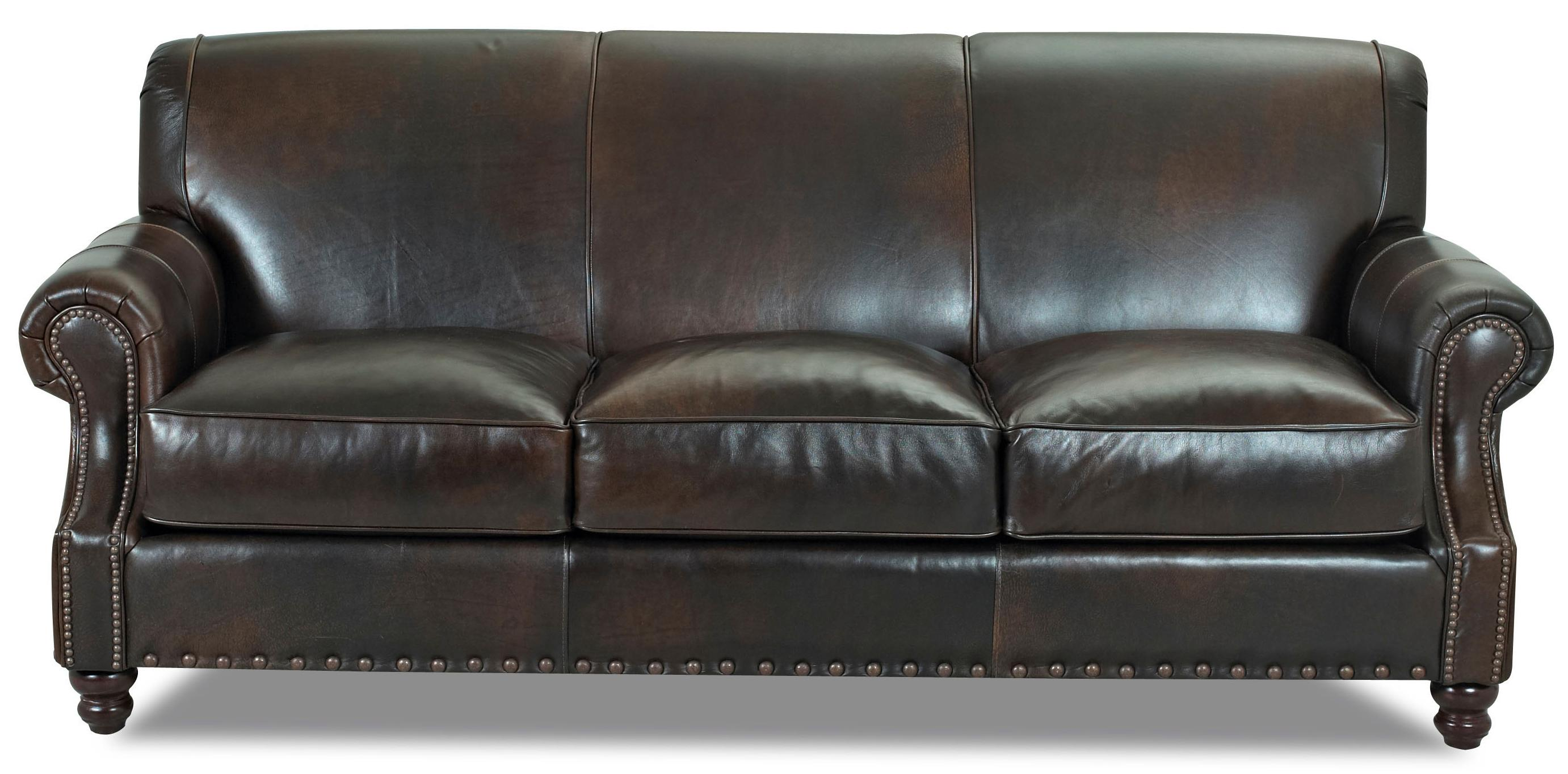 Klaussner fremont lt30410 s traditional leather stationary for Traditional sofas and loveseats