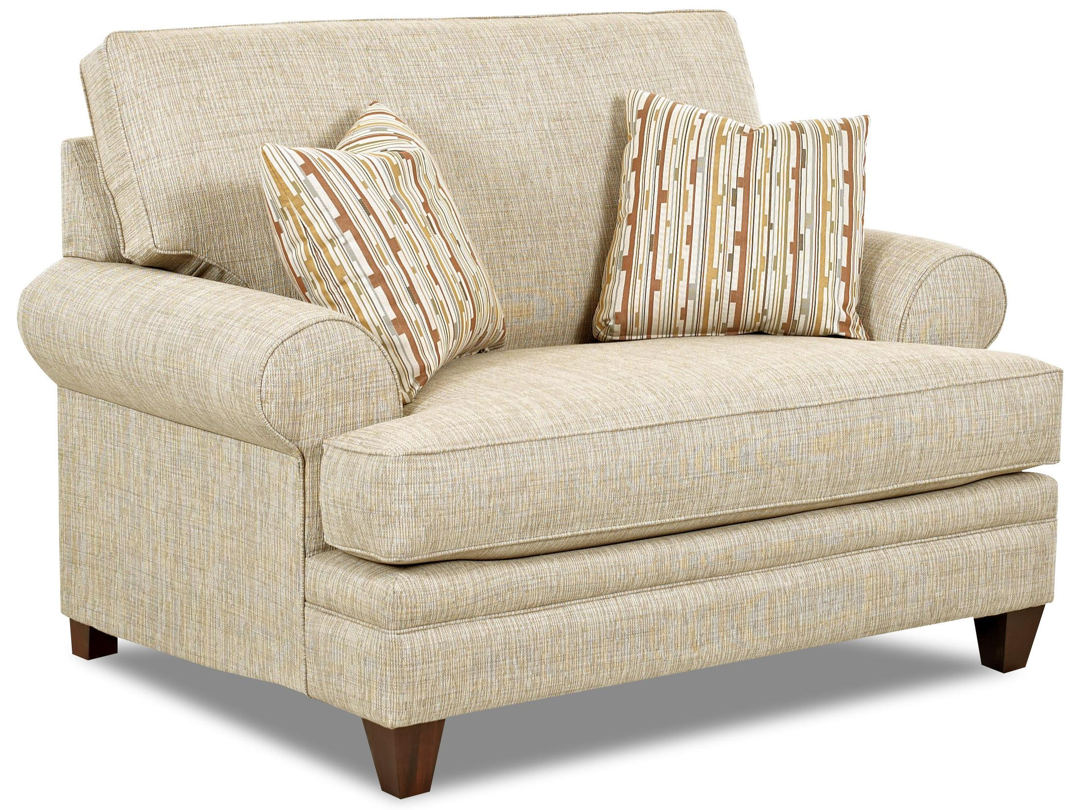 Klaussner Fresno Transitional Oversized Chair with Accent