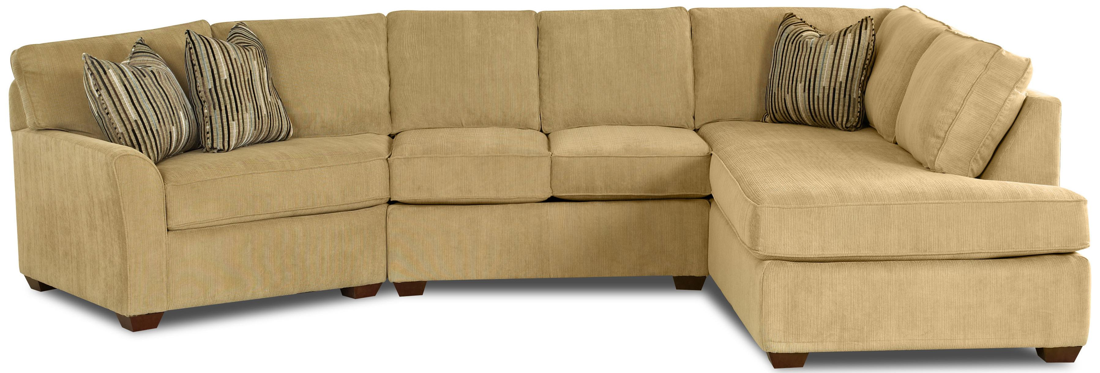Klaussner Sectional Sofa klaussner hybrid sectional sofa with left