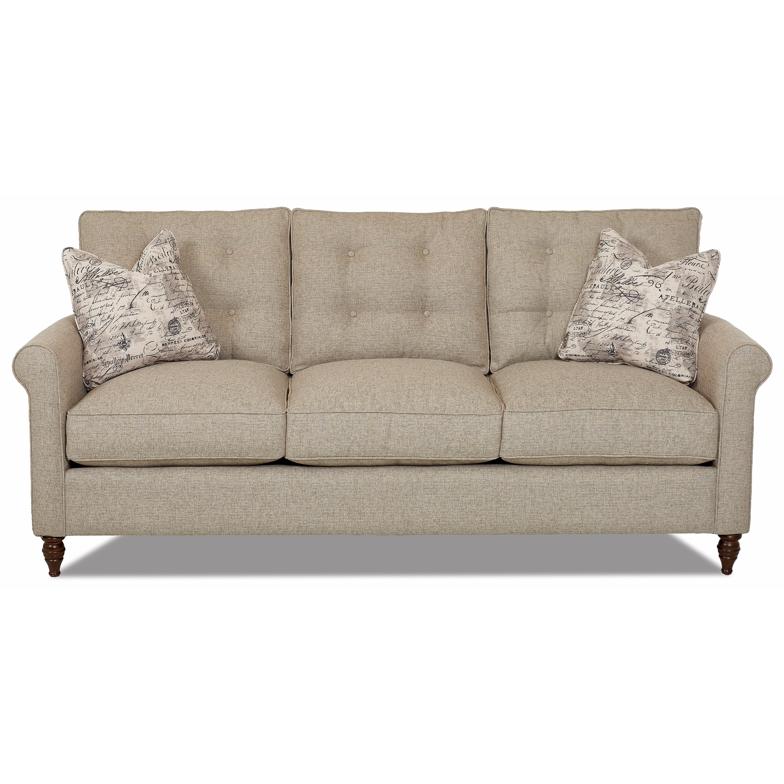 Holland Traditional Sofa with Button Tufted Back Cushions - Morris Home - Sofas