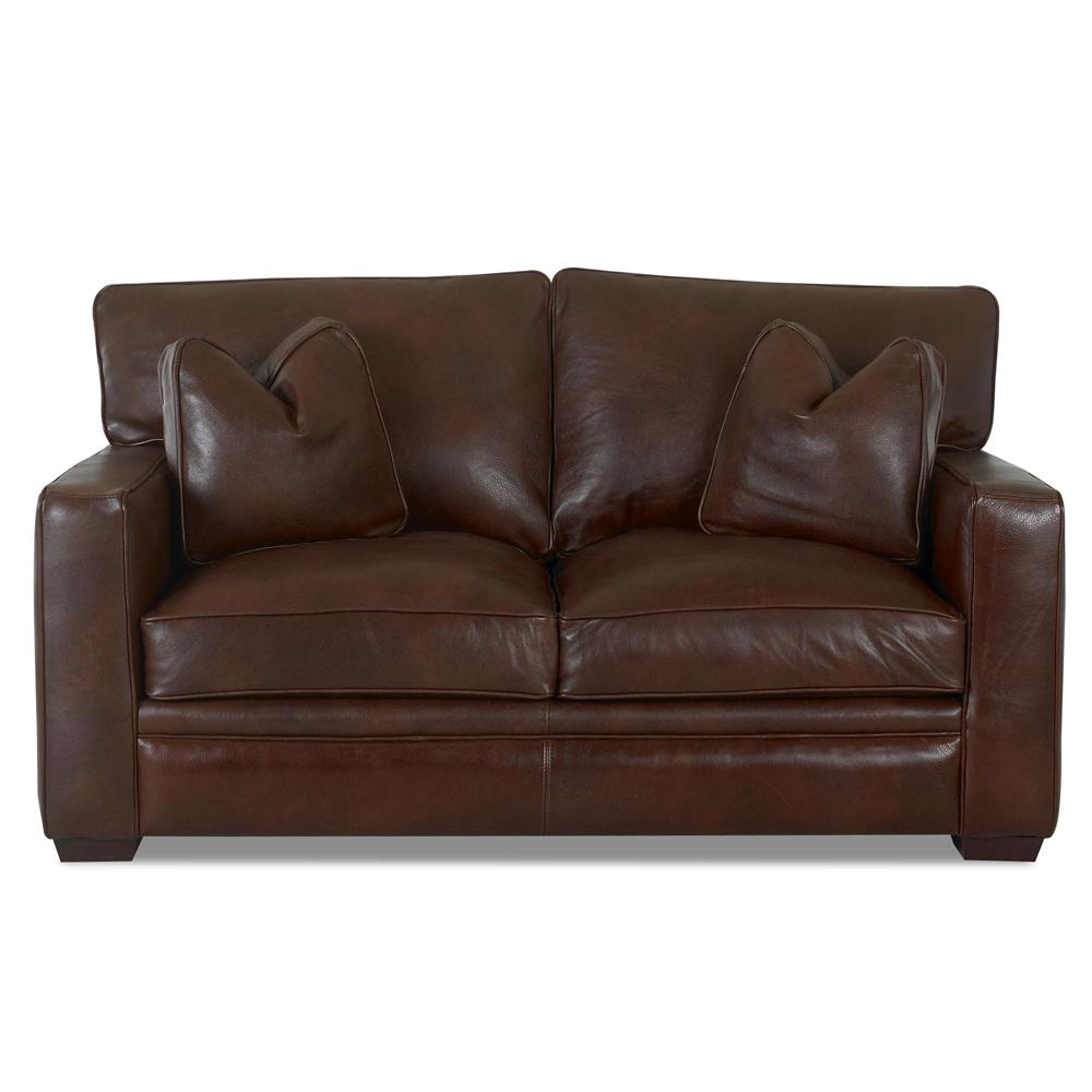 Klaussner homestead leather loveseat sheely39s furniture for Homestead furniture and appliances