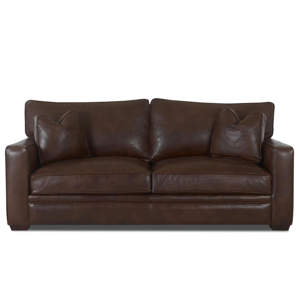 Klaussner homestead leather sofa wayside furniture sofas for Klaussner sofa