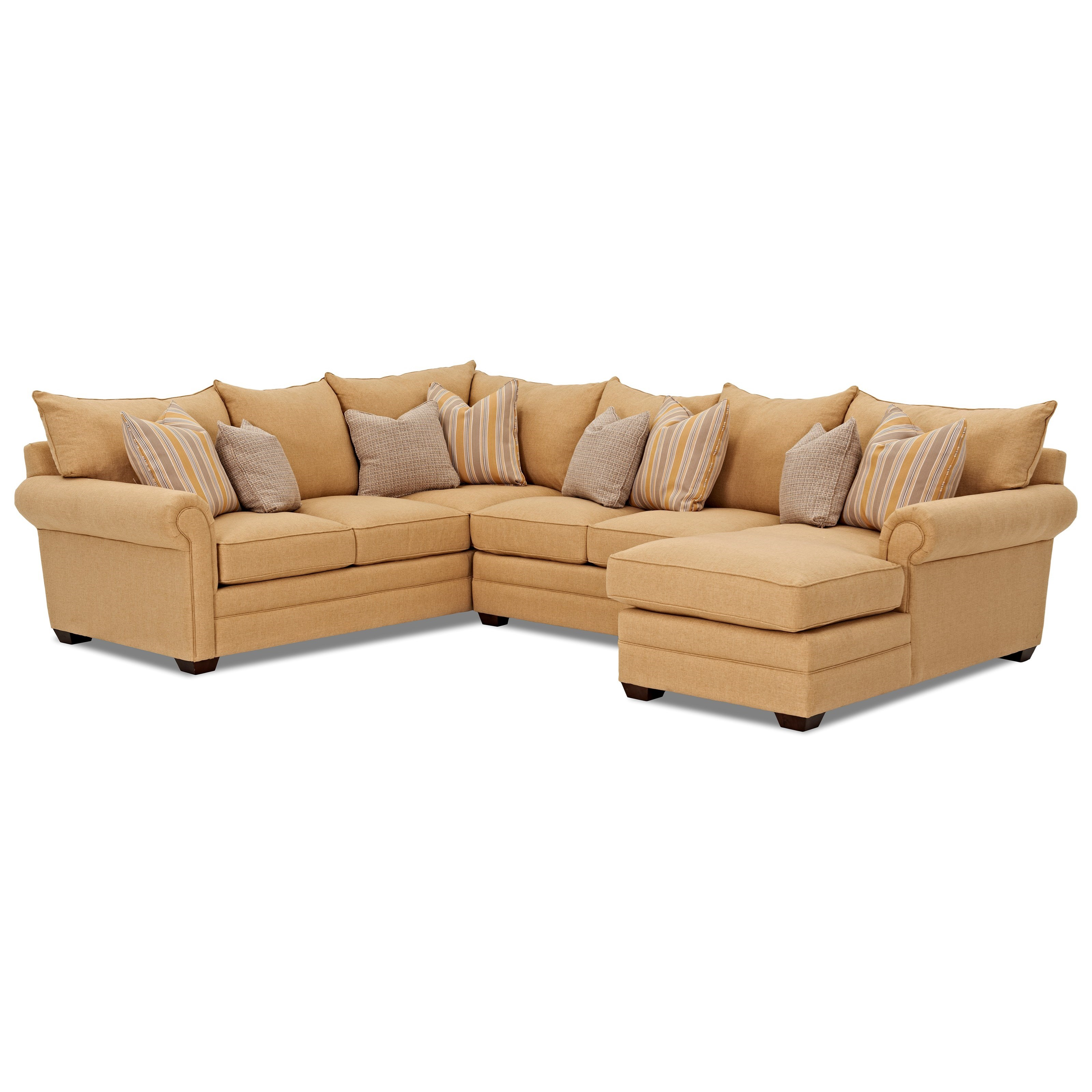 Elliston place huntley three piece sectional sofa with raf for Chaise 3 places