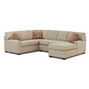 Klaussner Hybrid Casual Stationary Sofa with Back T