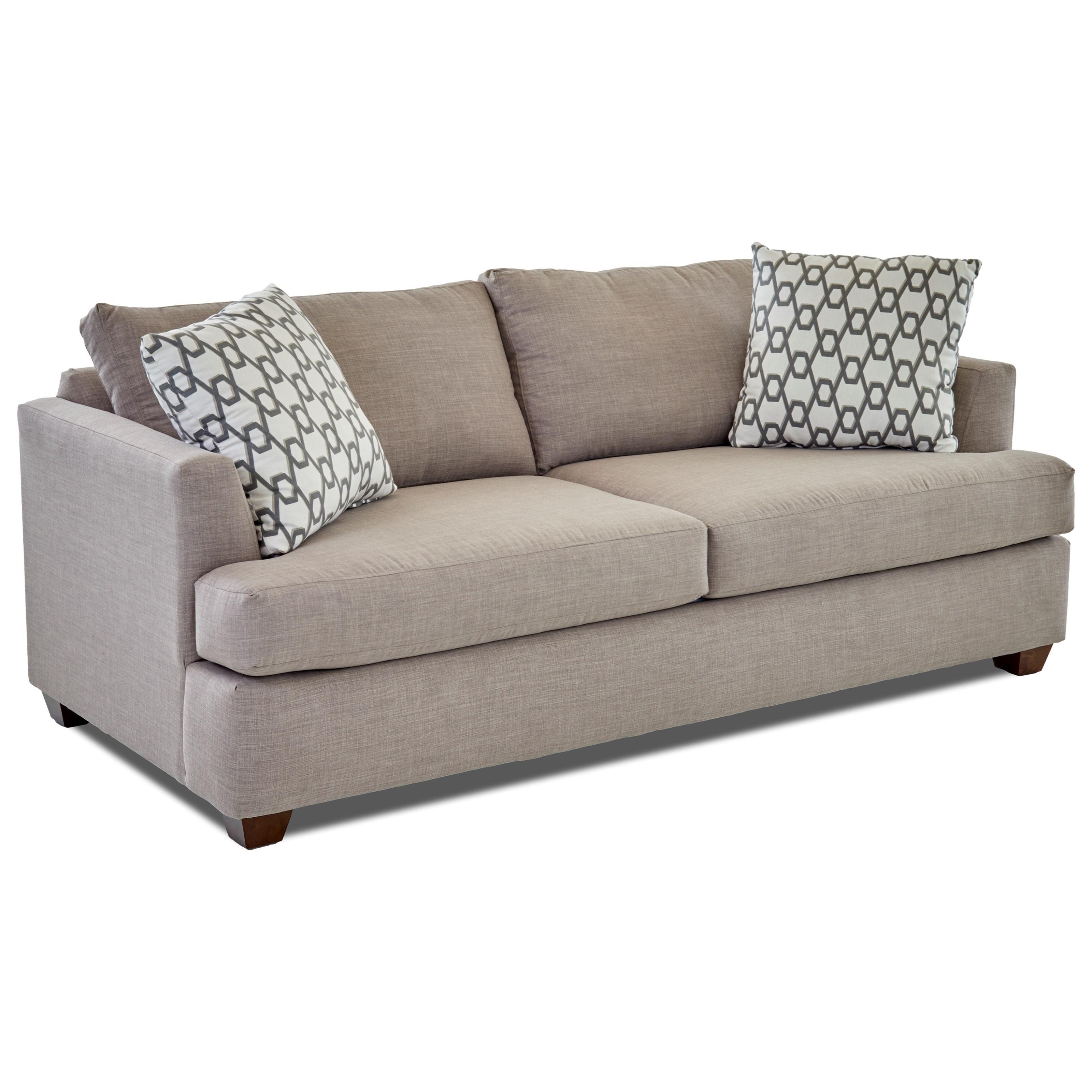 Klaussner jack k49500 iqsl queen inner spring sleeper sofa for Furniture jack