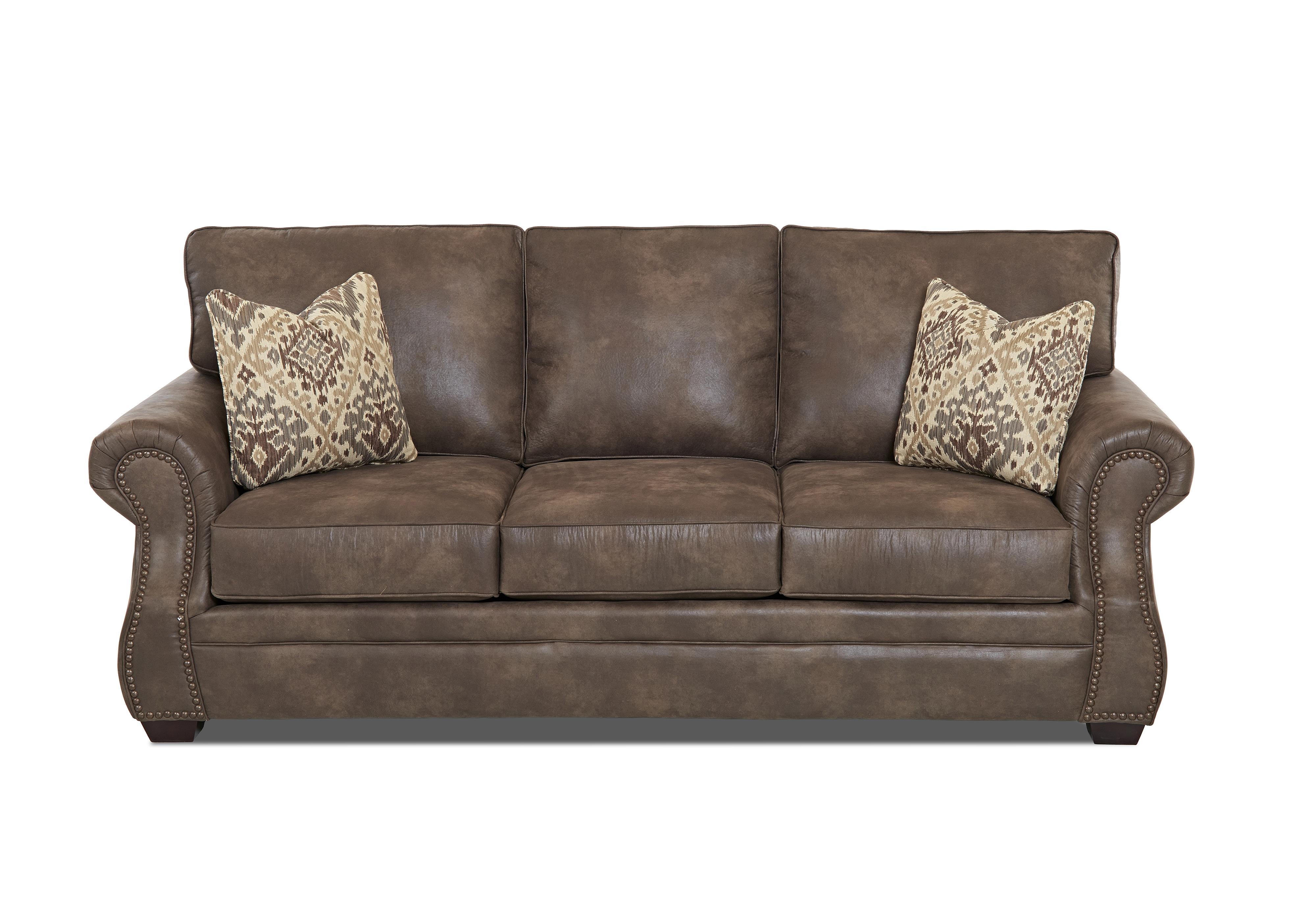 klaussner jasper traditional air coil mattress sleeper sofa with nailhead trim value city. Black Bedroom Furniture Sets. Home Design Ideas