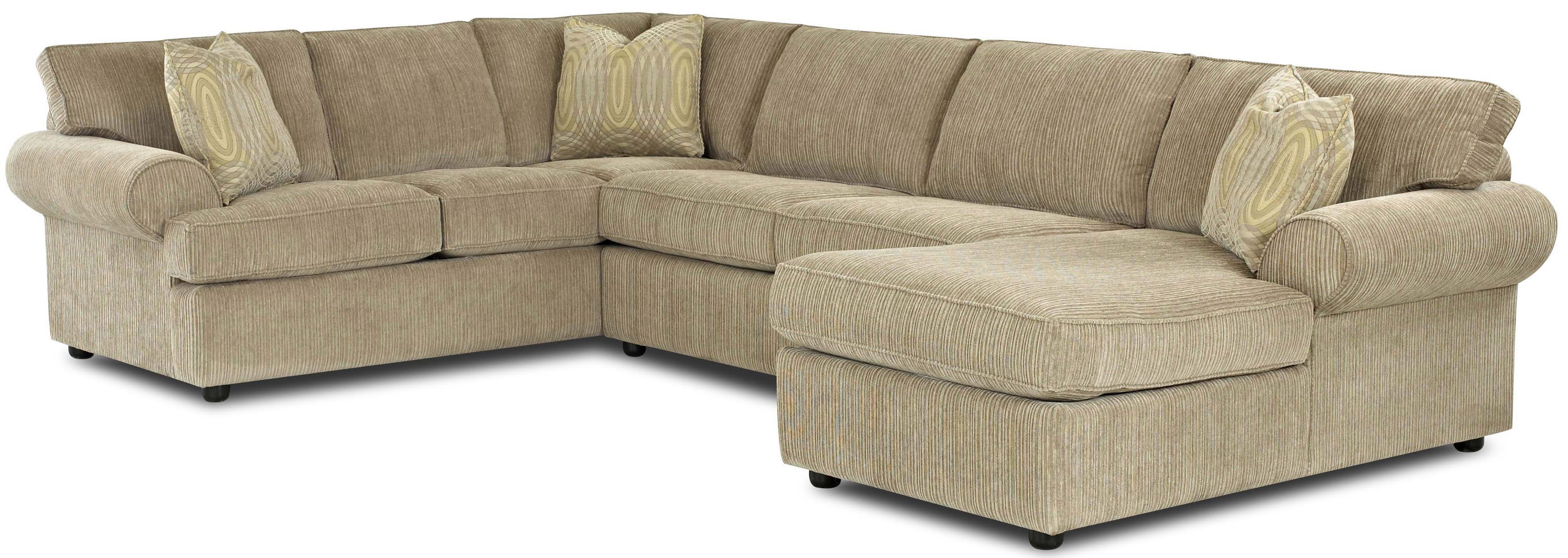 Klaussner julington transitional sectional sofa with for Transitional sectional sofa sleeper