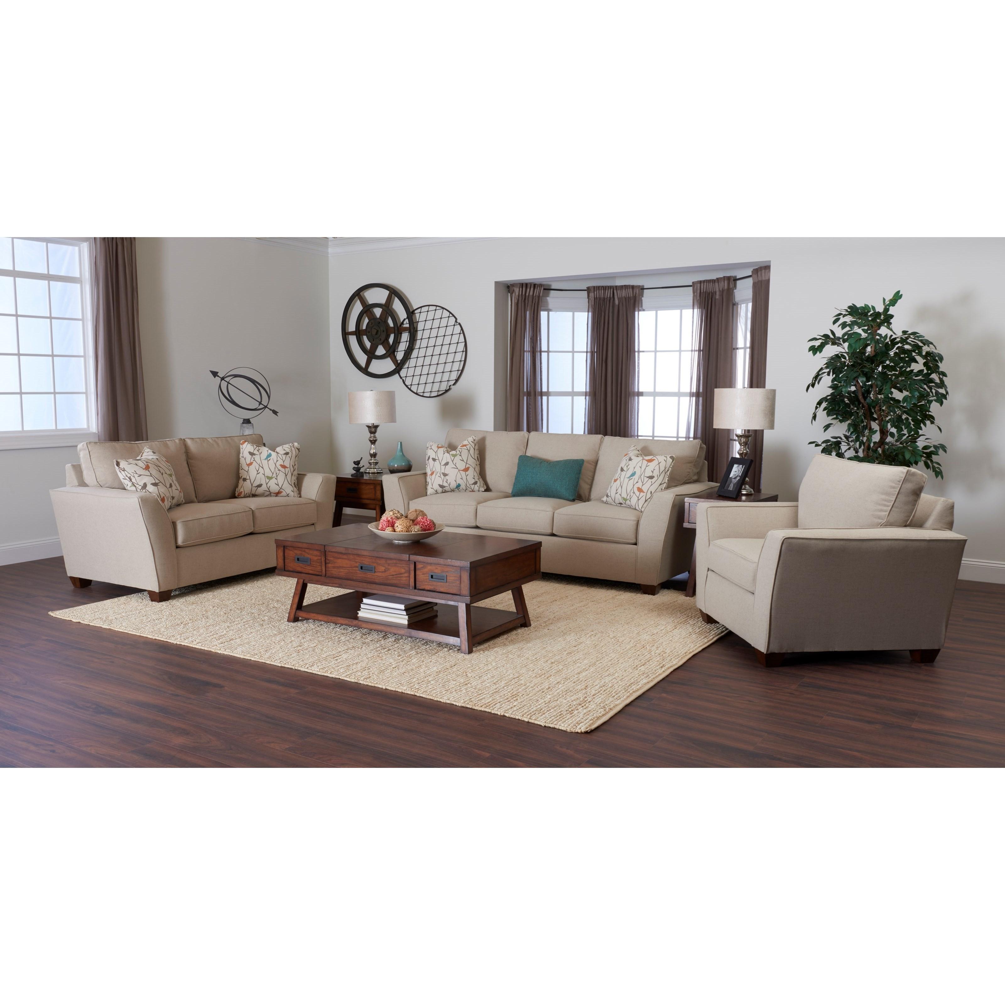 Klaussner Kent Living Room Group Dunk Bright Furniture Stationary L