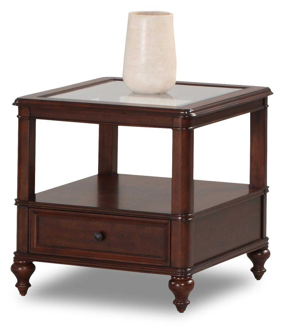 Kinston end table with cherry veneer morris home end table Morris home furniture hours