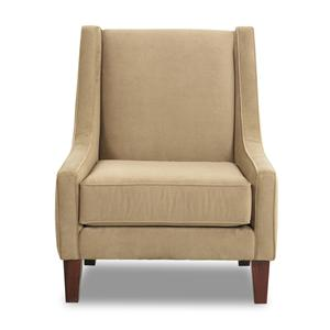 Klaussner Simone Upholstered Chair With Rolled Arms And