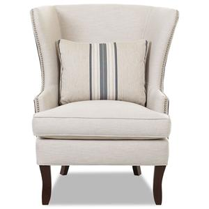 Klaussner Chairs And Accents Carolina Skirted Glider Chair