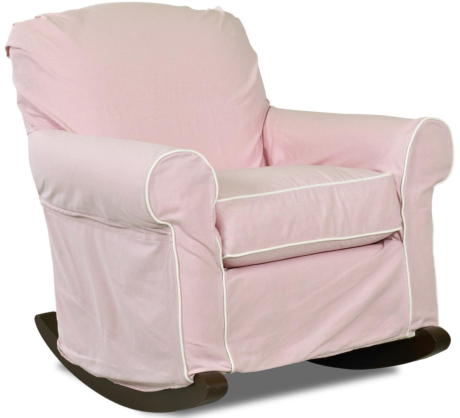 Chairs and Accents Old Town Upholstered Rocking Chair with Slip Cover ...