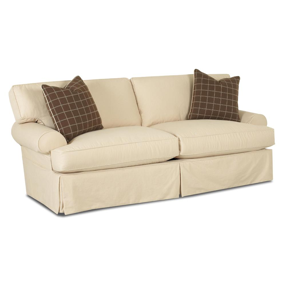 Klaussner lahoya d28100 s sofa with slipcover and blend for Sectional sofa down cushions