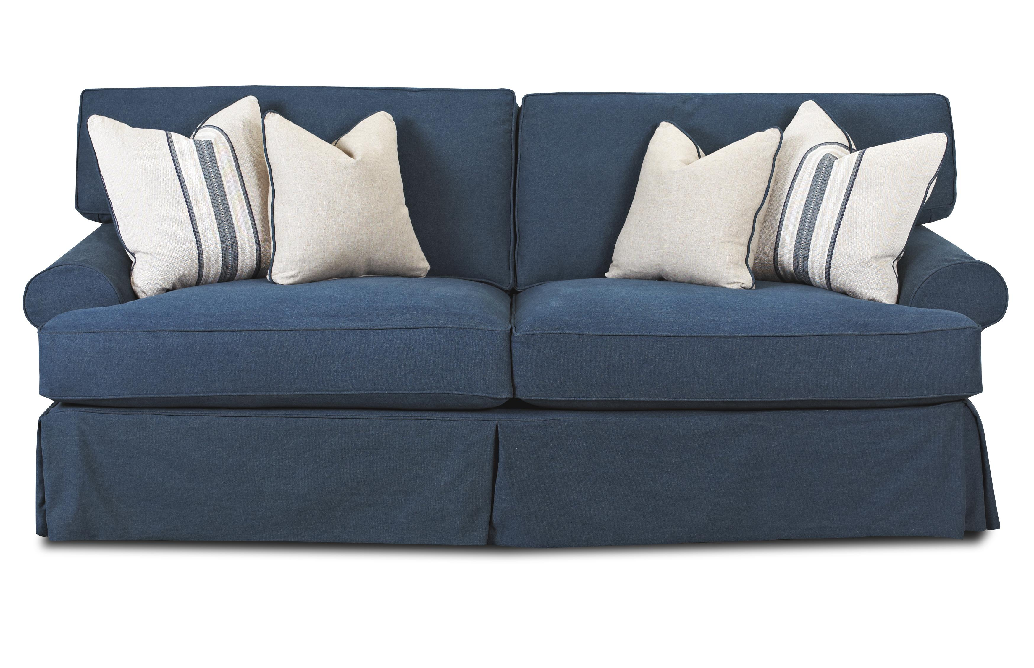 Klaussner lahoya d28140 s sofa with blend down cushions for Furniture 0 down