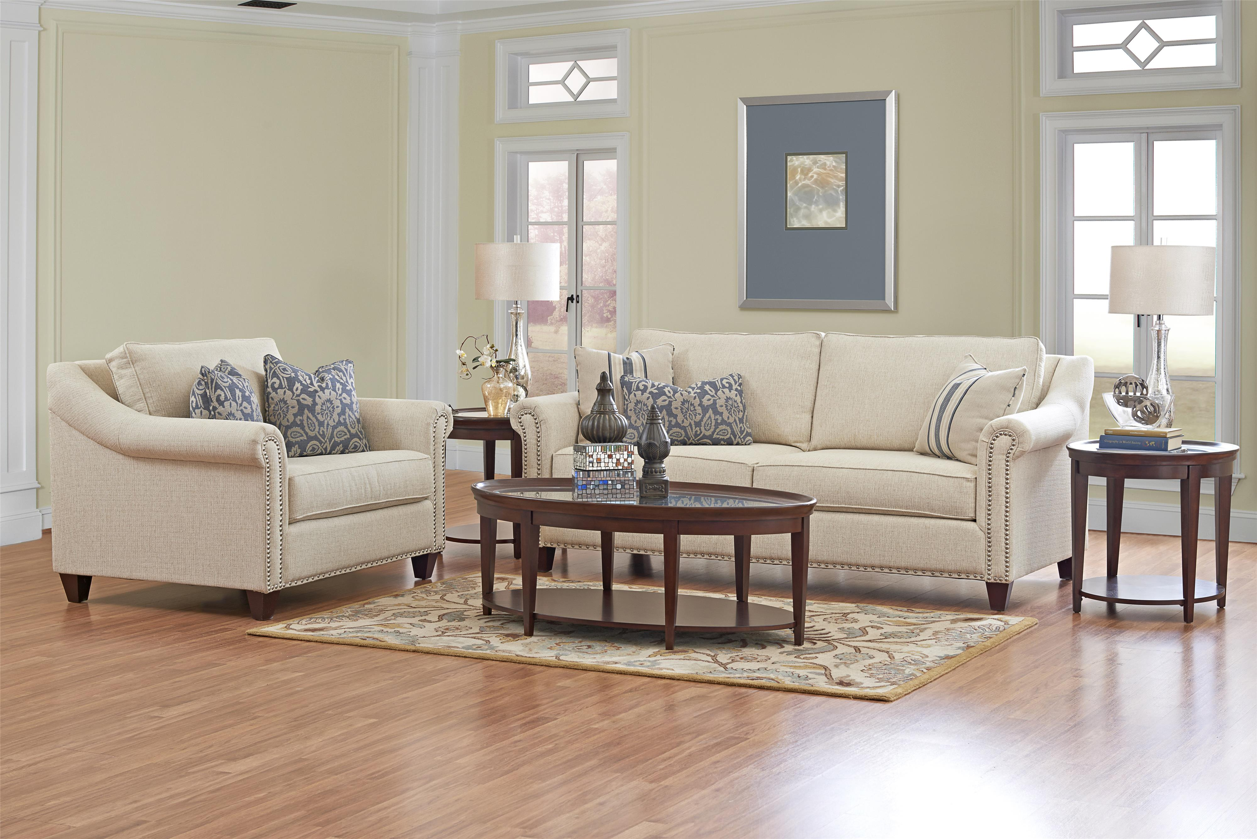 Klaussner Langley Sofa With Nailhead Trim And Toss Pillows Colder 39 S Furniture And Appliance Sofa