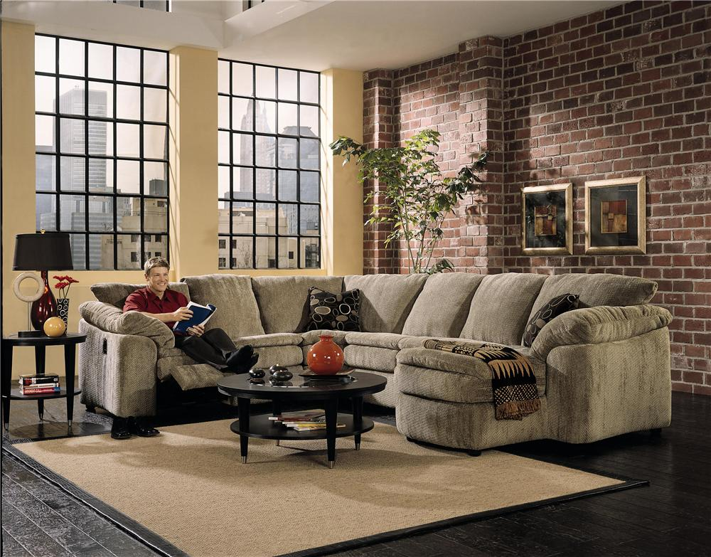 Elliston place legacy left arm reclining love seat and for Chaise 3 places