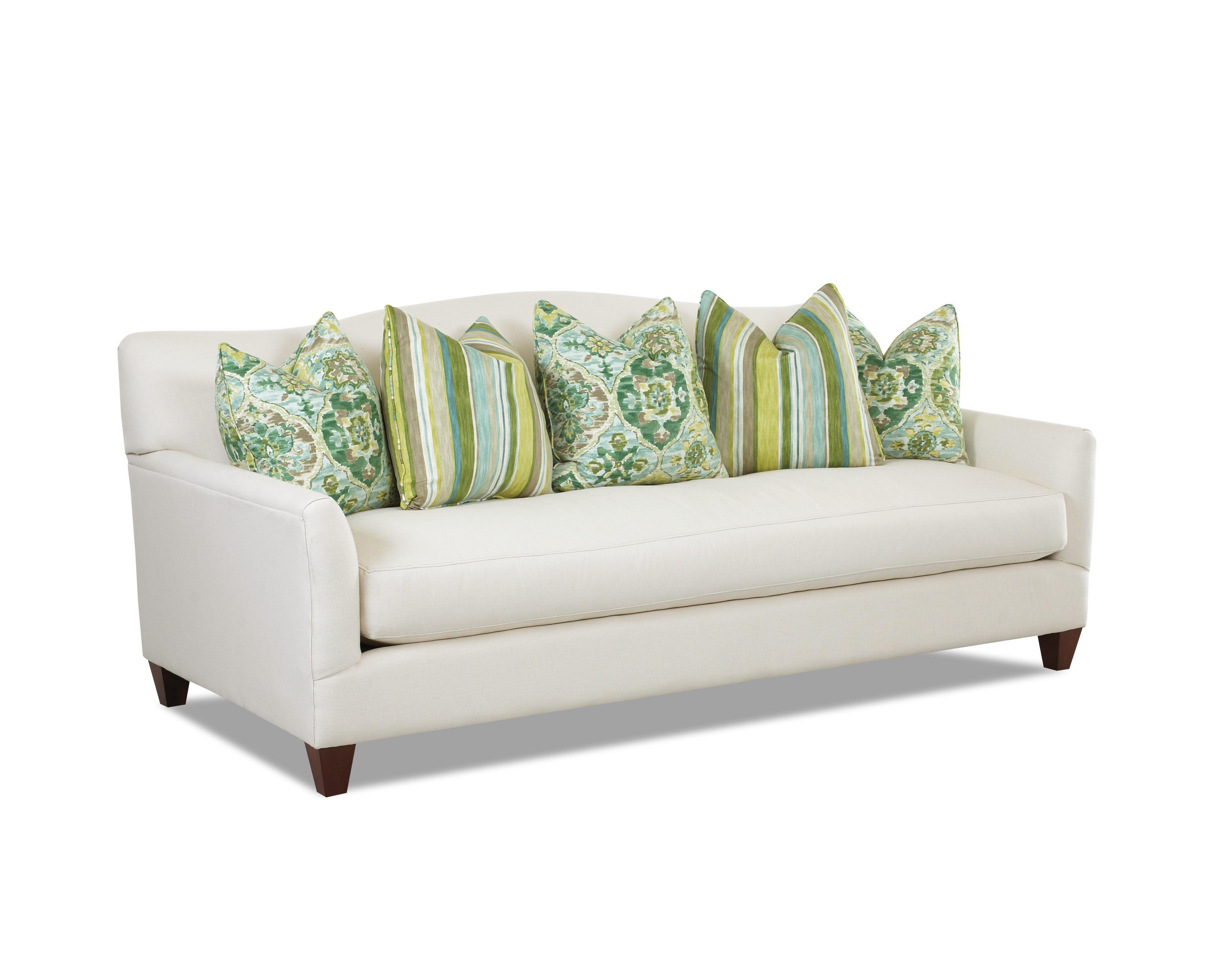 Contemporary Stationary Sofa With Bench Seat Cushion And