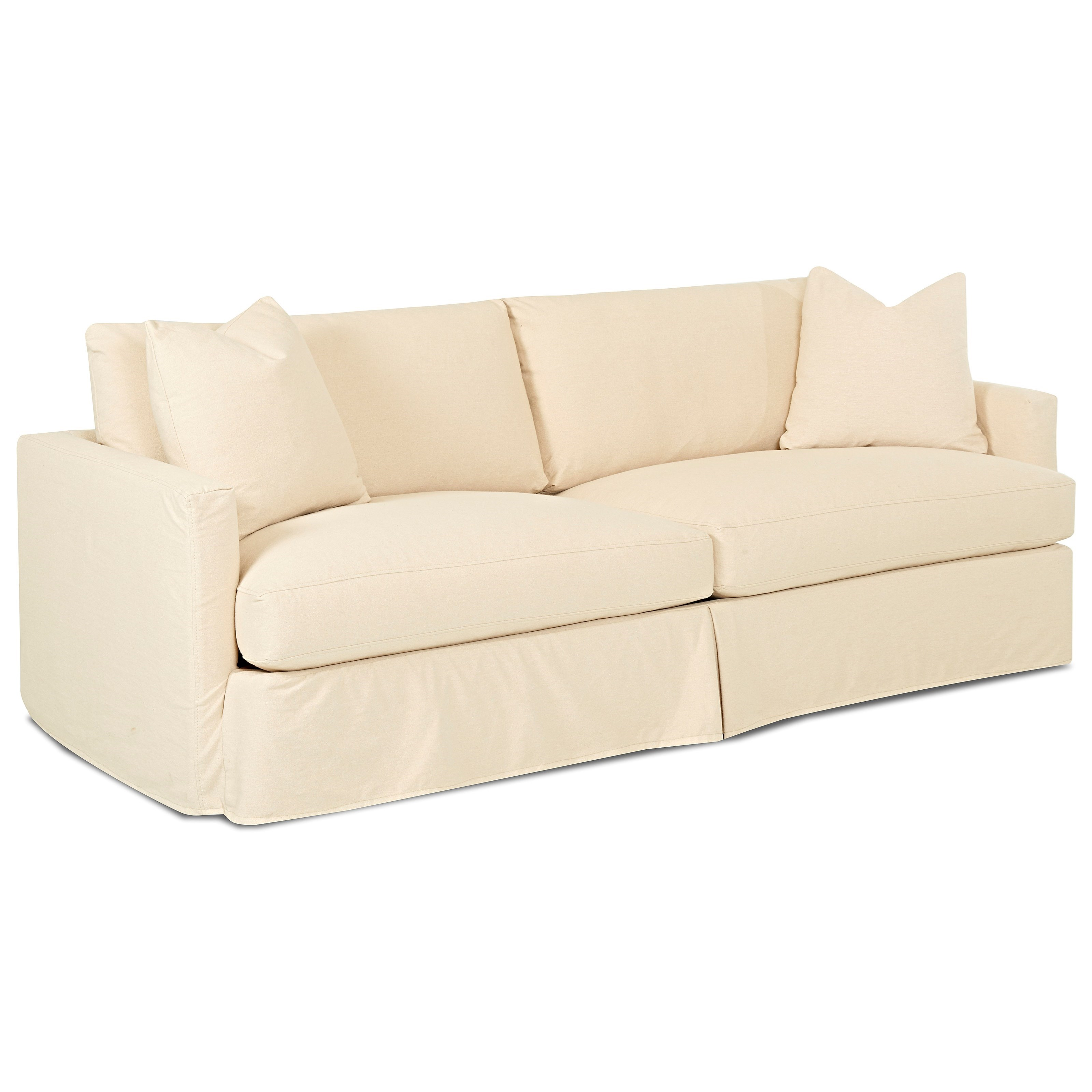 Klaussner Leisure D4133 Xs Extra Large Sofa With Slipcover Pilgrim Furniture City Sofa
