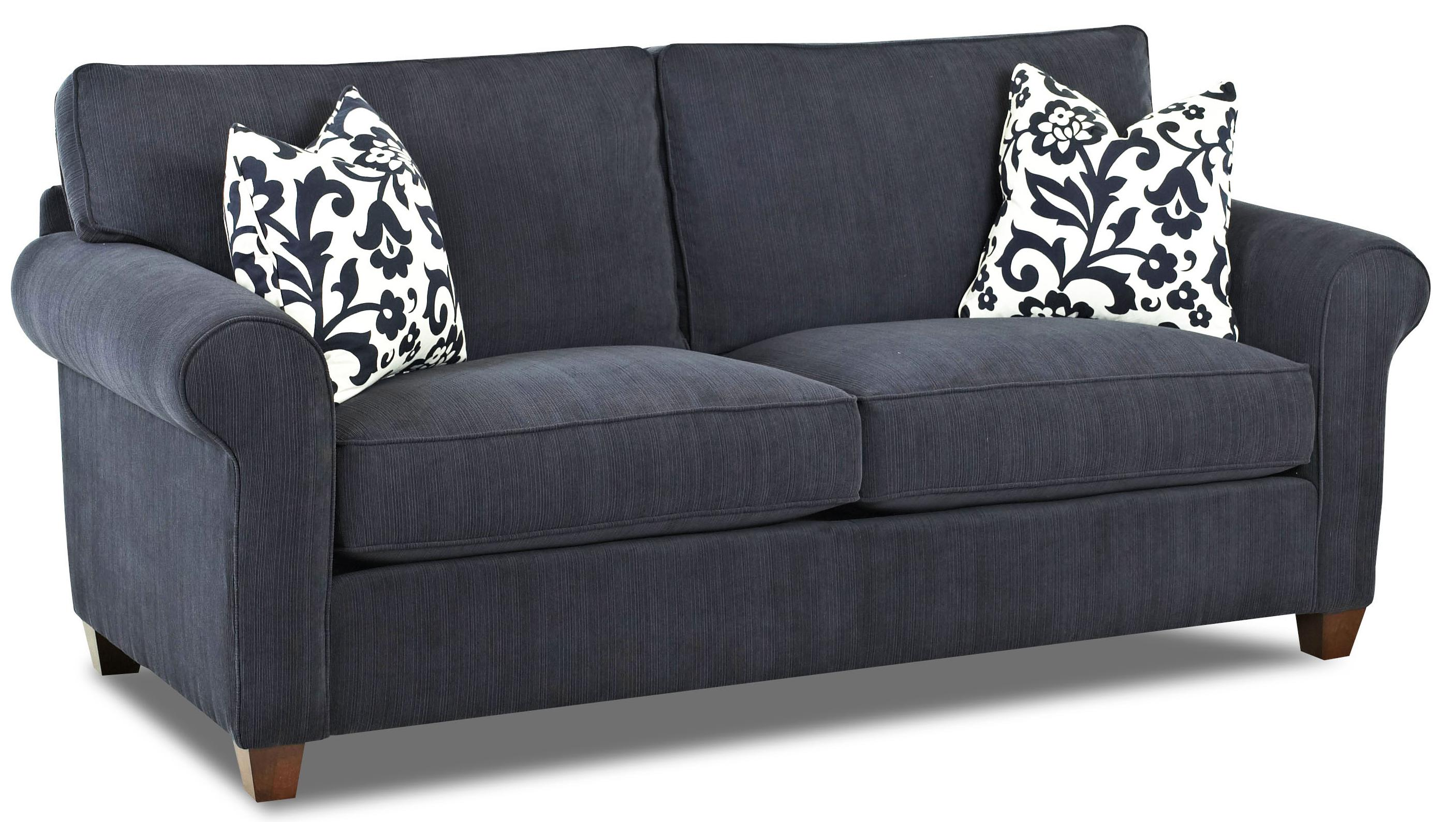 Klaussner lillington distinctions d70200 dqsl transitional for Transitional sectional sofa sleeper