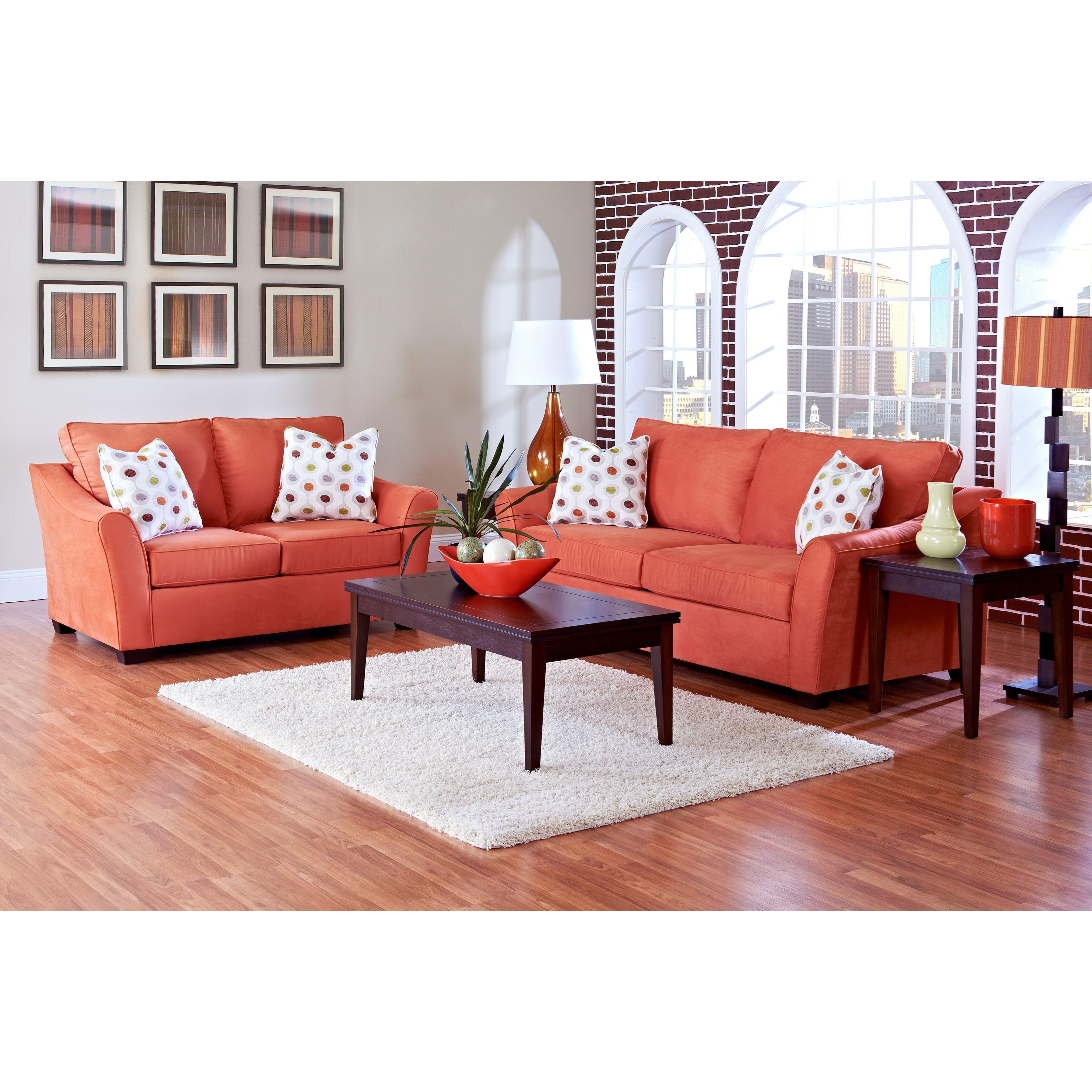 Klaussner linville living room group pilgrim furniture for Living room furniture groups