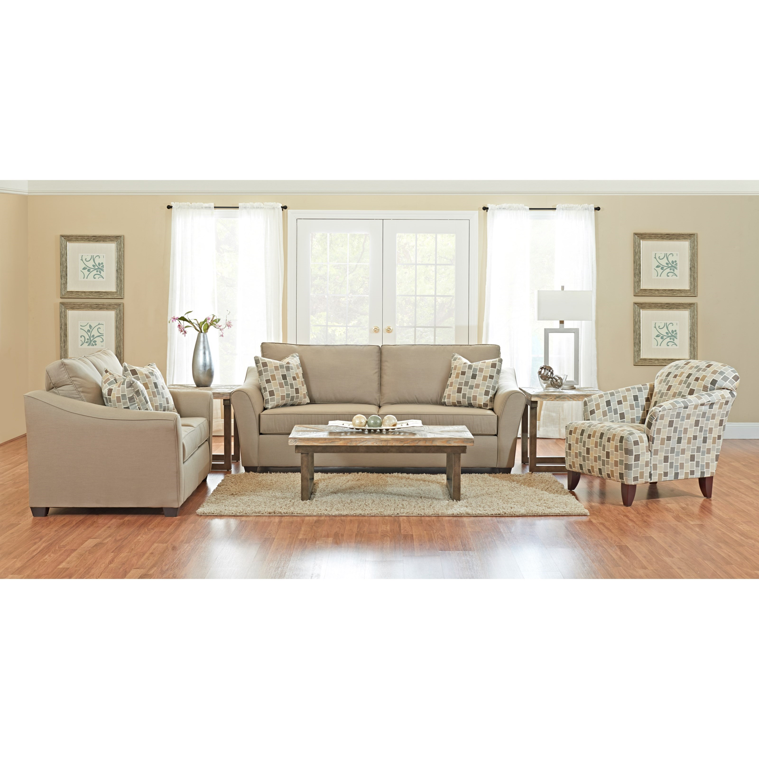 Klaussner linville living room group pilgrim furniture for Living room furniture groups